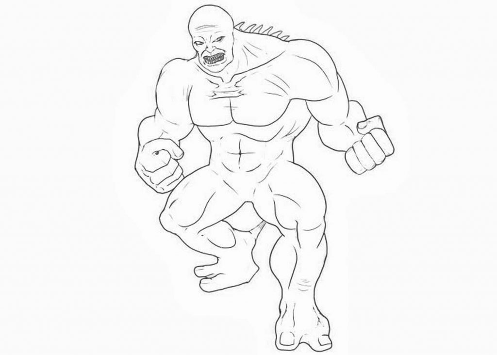 Abomination From Incredible Hulk Coloring Page