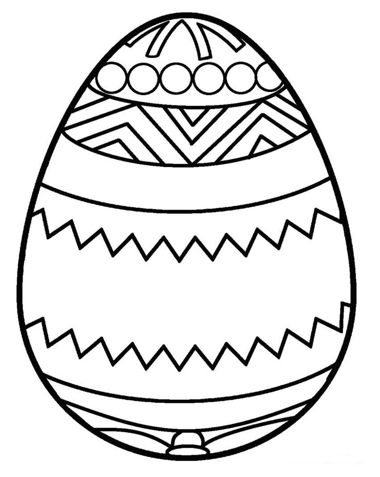 Abstract Design Easter Egg Coloring Page For Kids