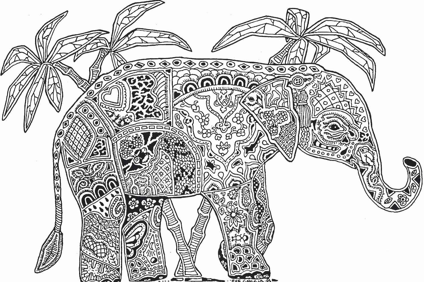Abstract Elephant For Adults