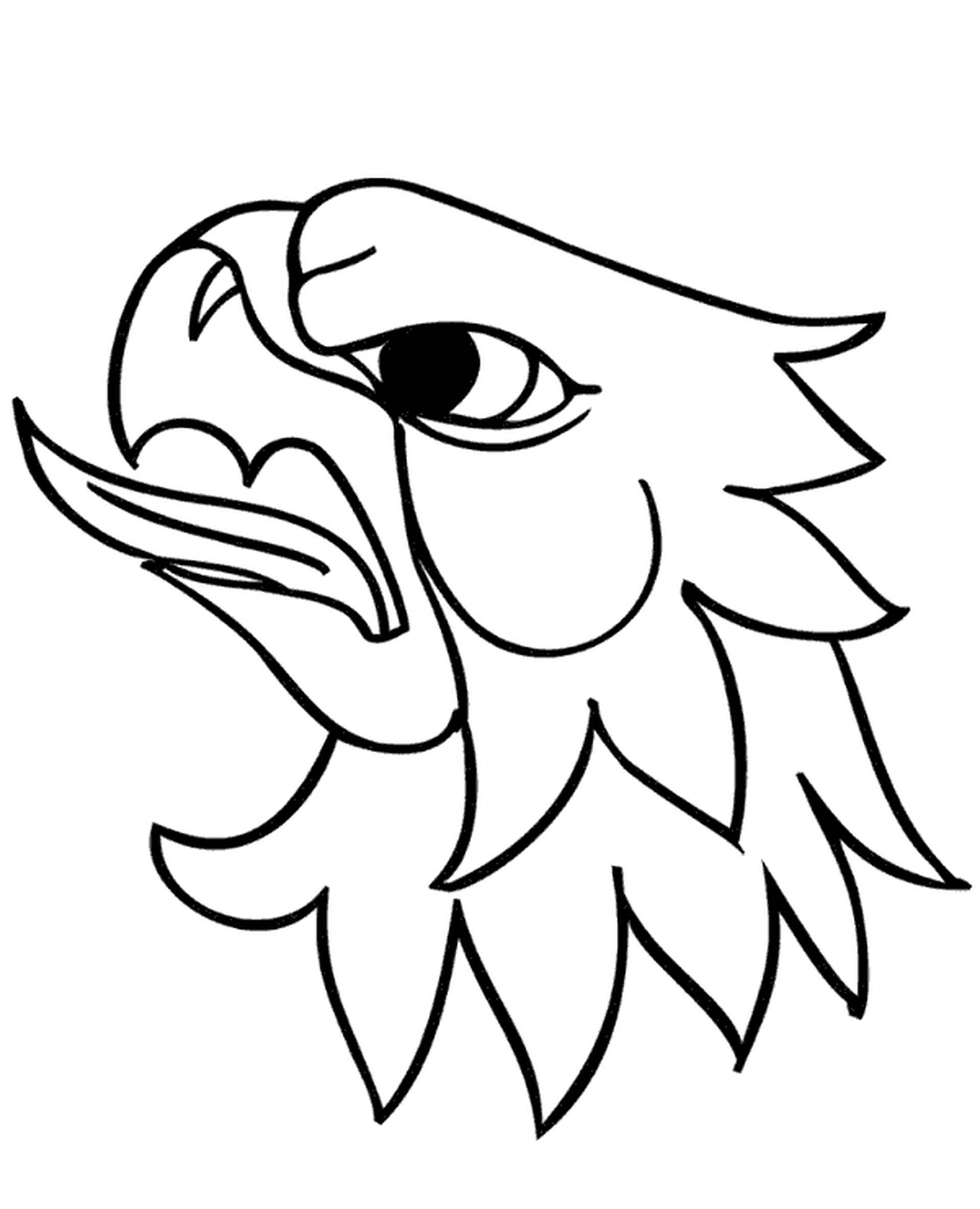 Angry Eagle Head Coloring Page