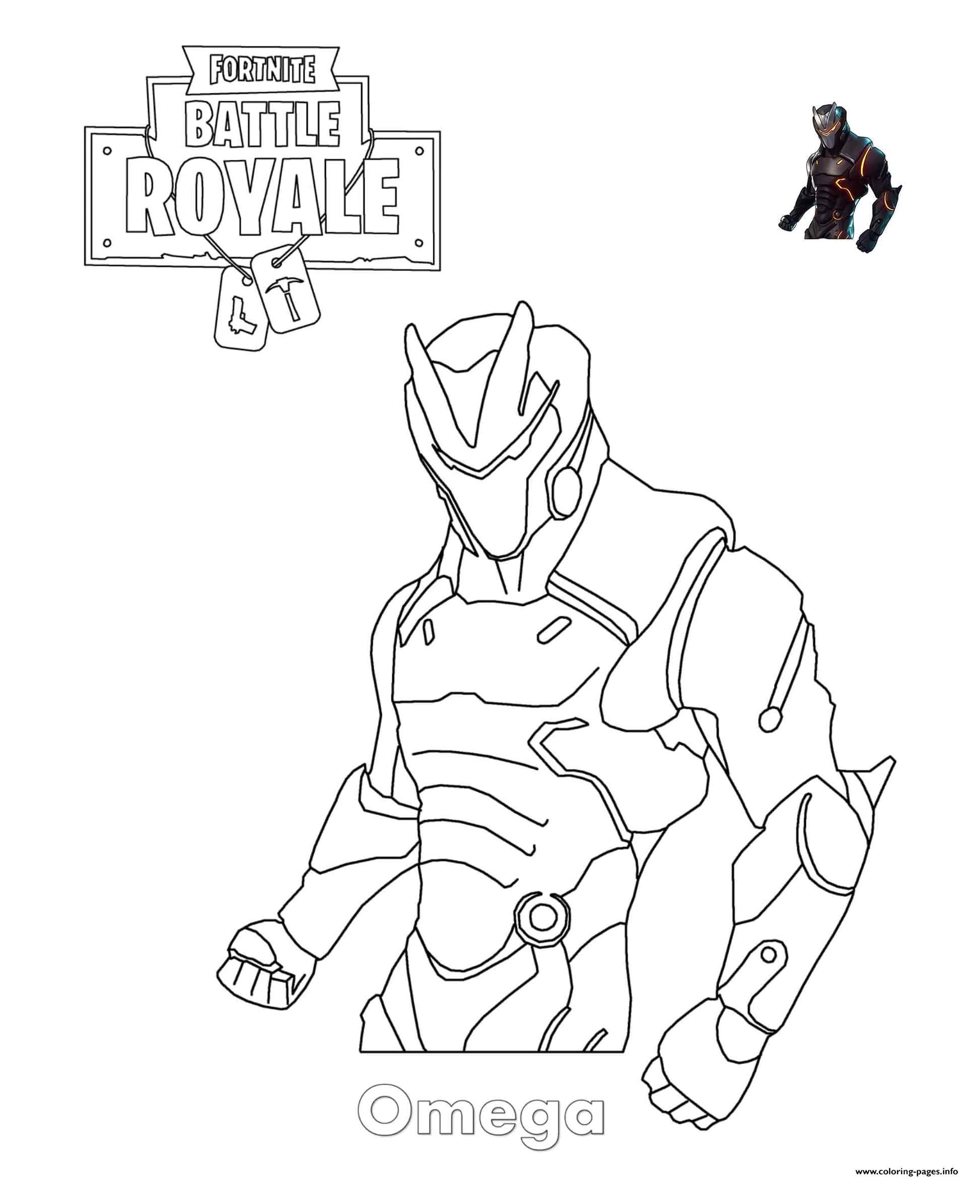 Angry Omega Skin Fortnite Coloring Page