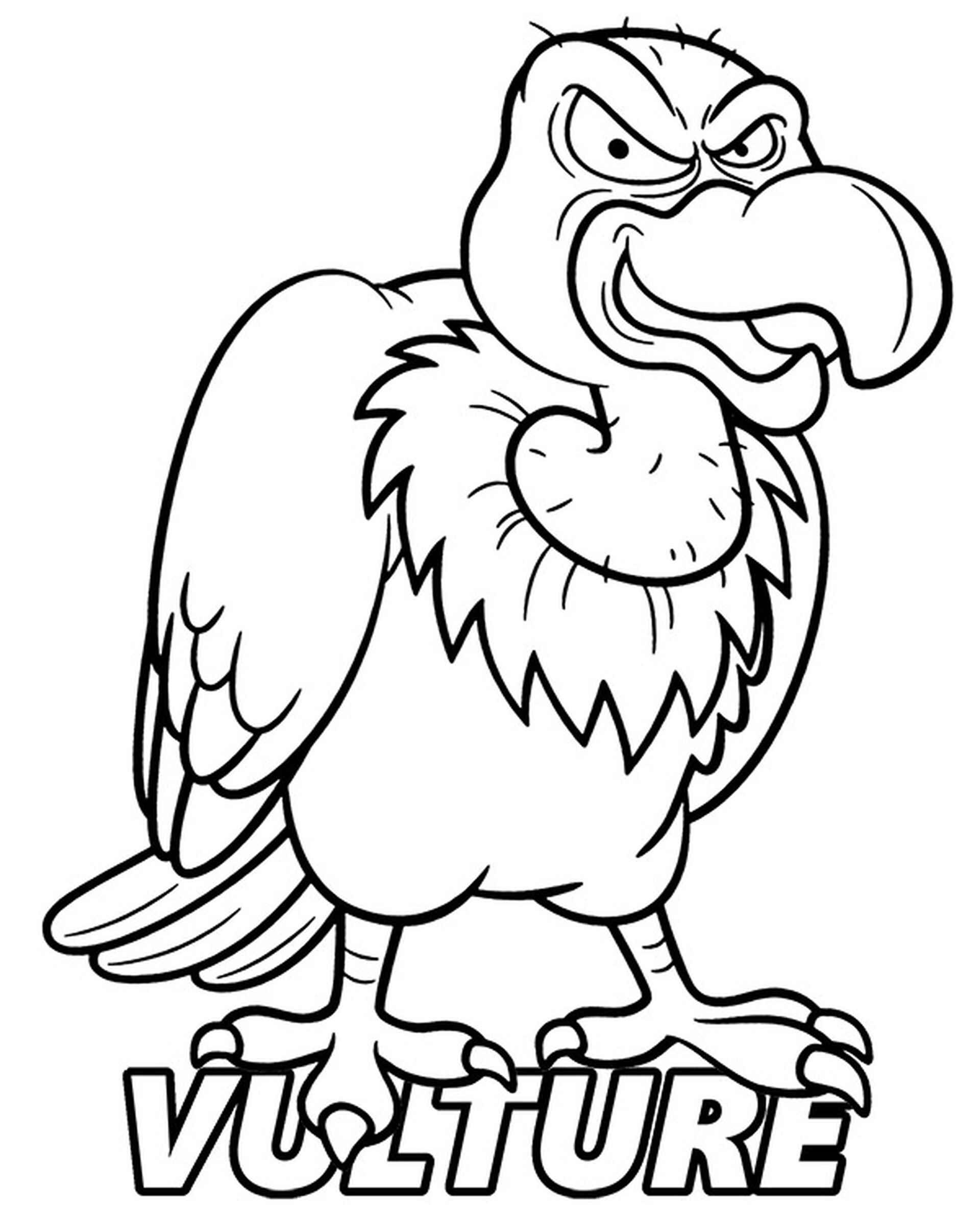 Angry Vulture Coloring Page