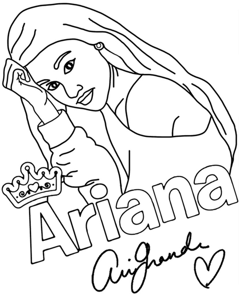 Ariana Grande Coloring Sheet