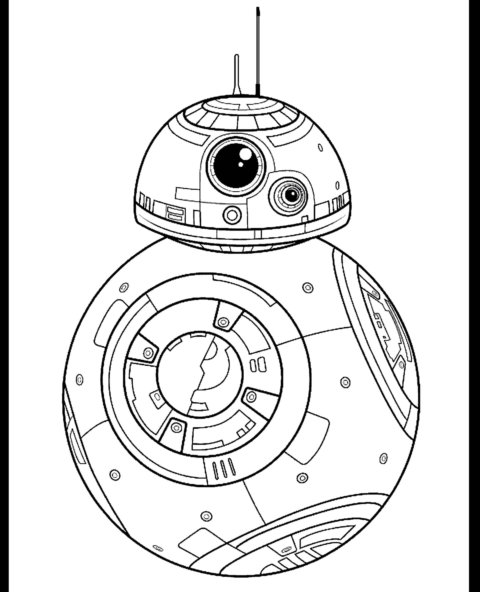 Bb-8 Droid From Star Wars Coloring Page