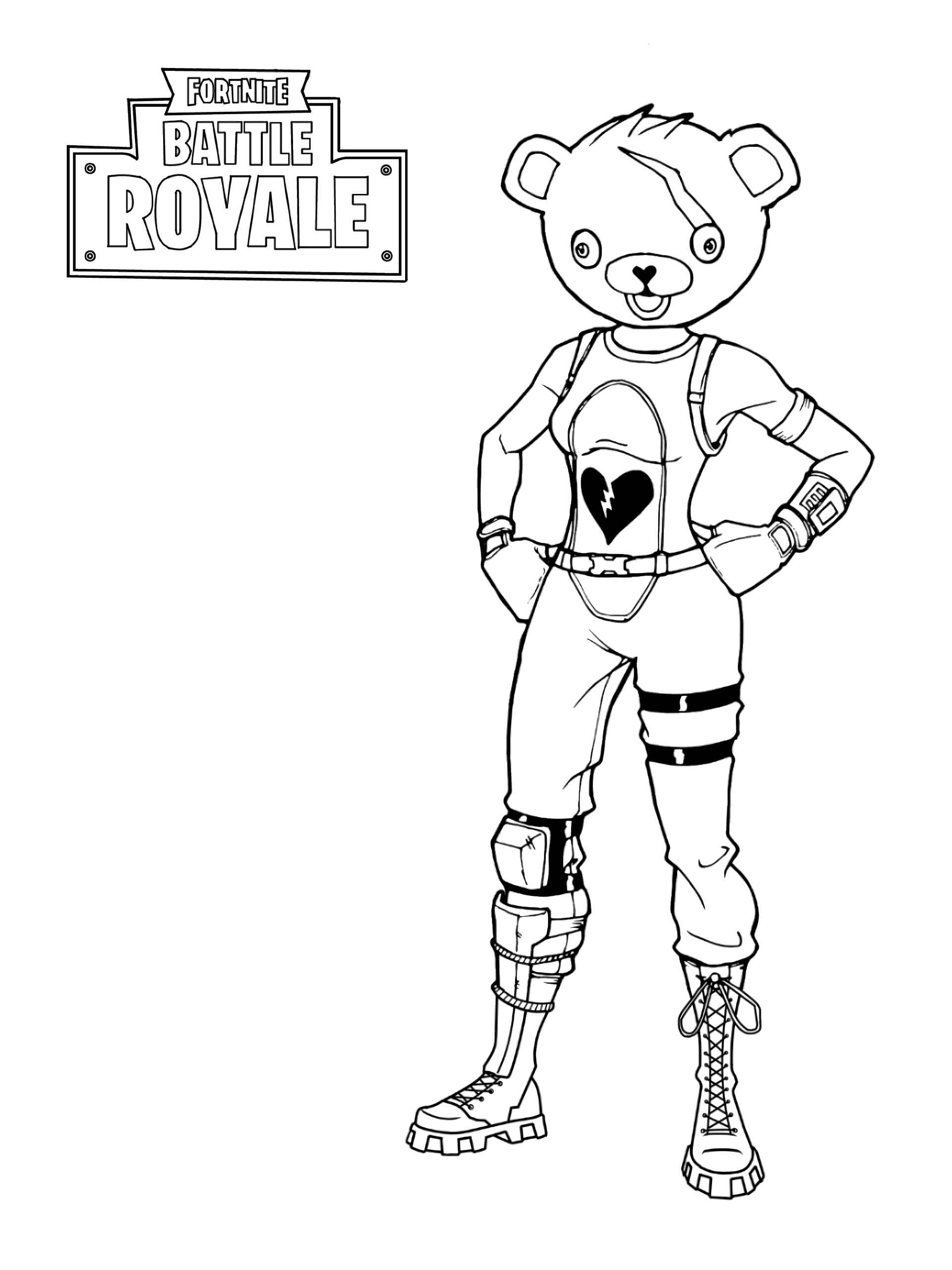 Bear Skin From The Game Fortnite Coloring Page