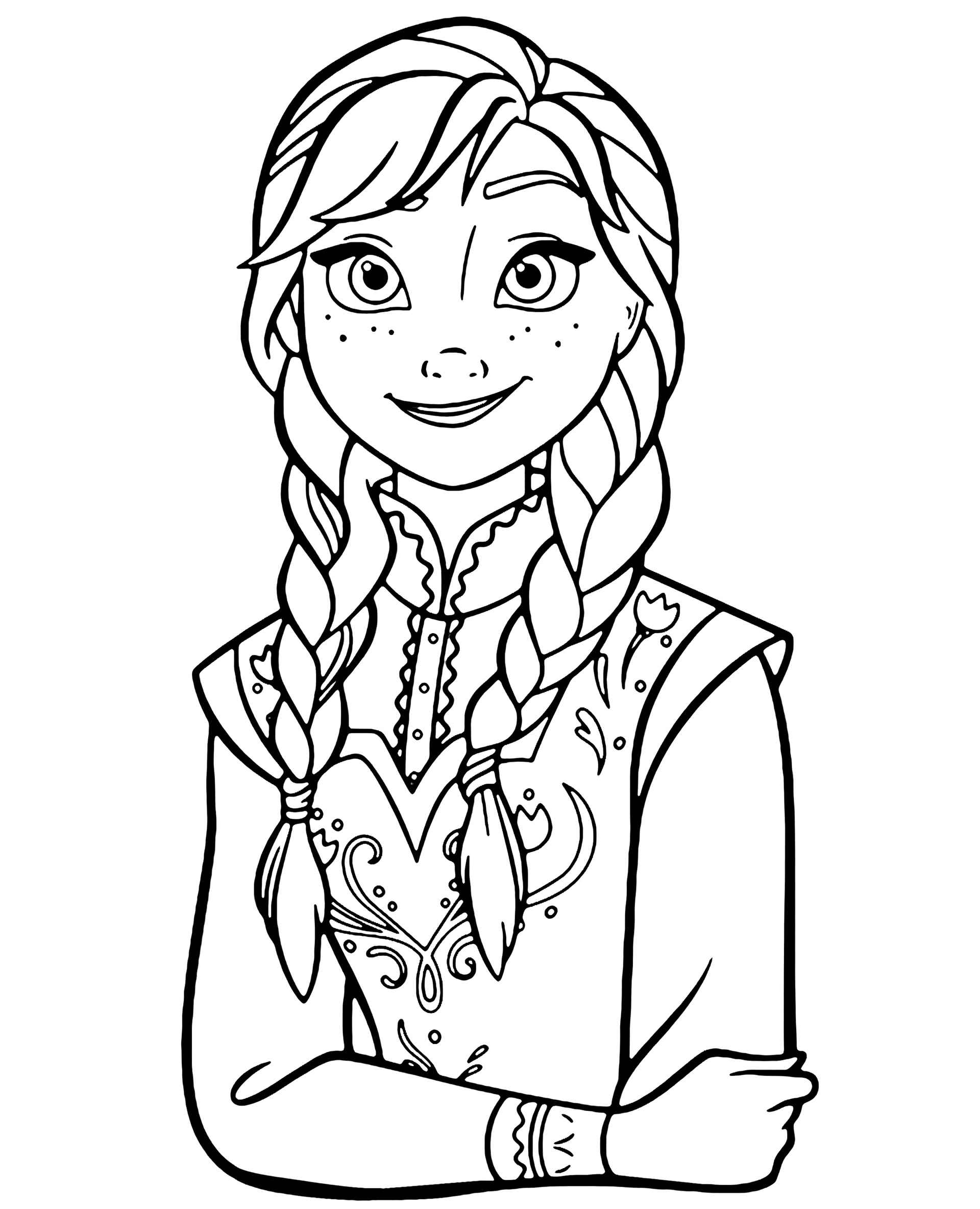 Beautiful Anna Coloring Page
