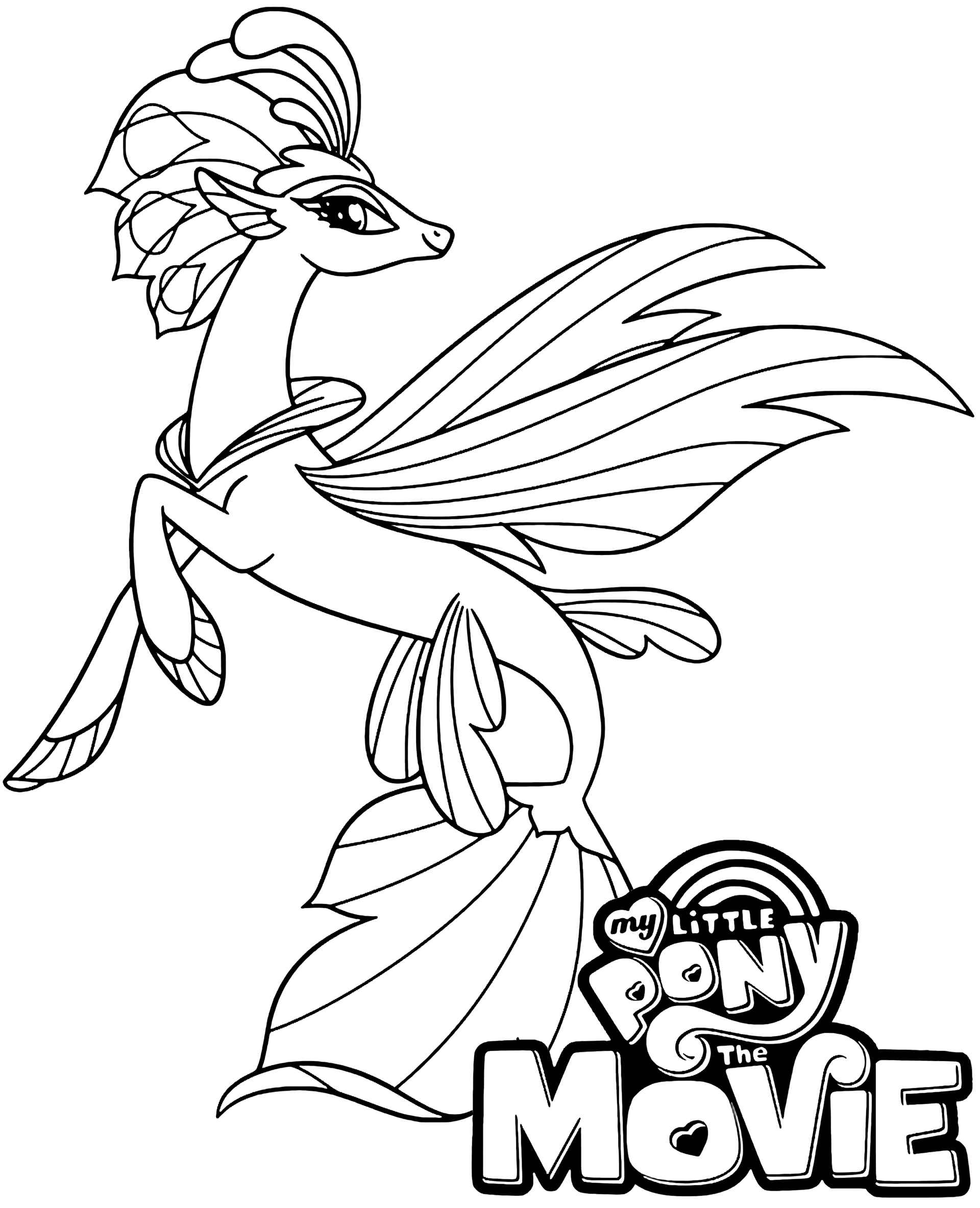 Beautiful Pony Mermaid Queen Novo With Logo Coloring Page