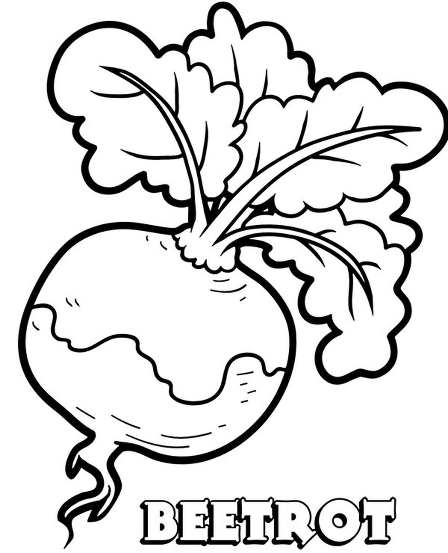 Beetrot Coloring Pages