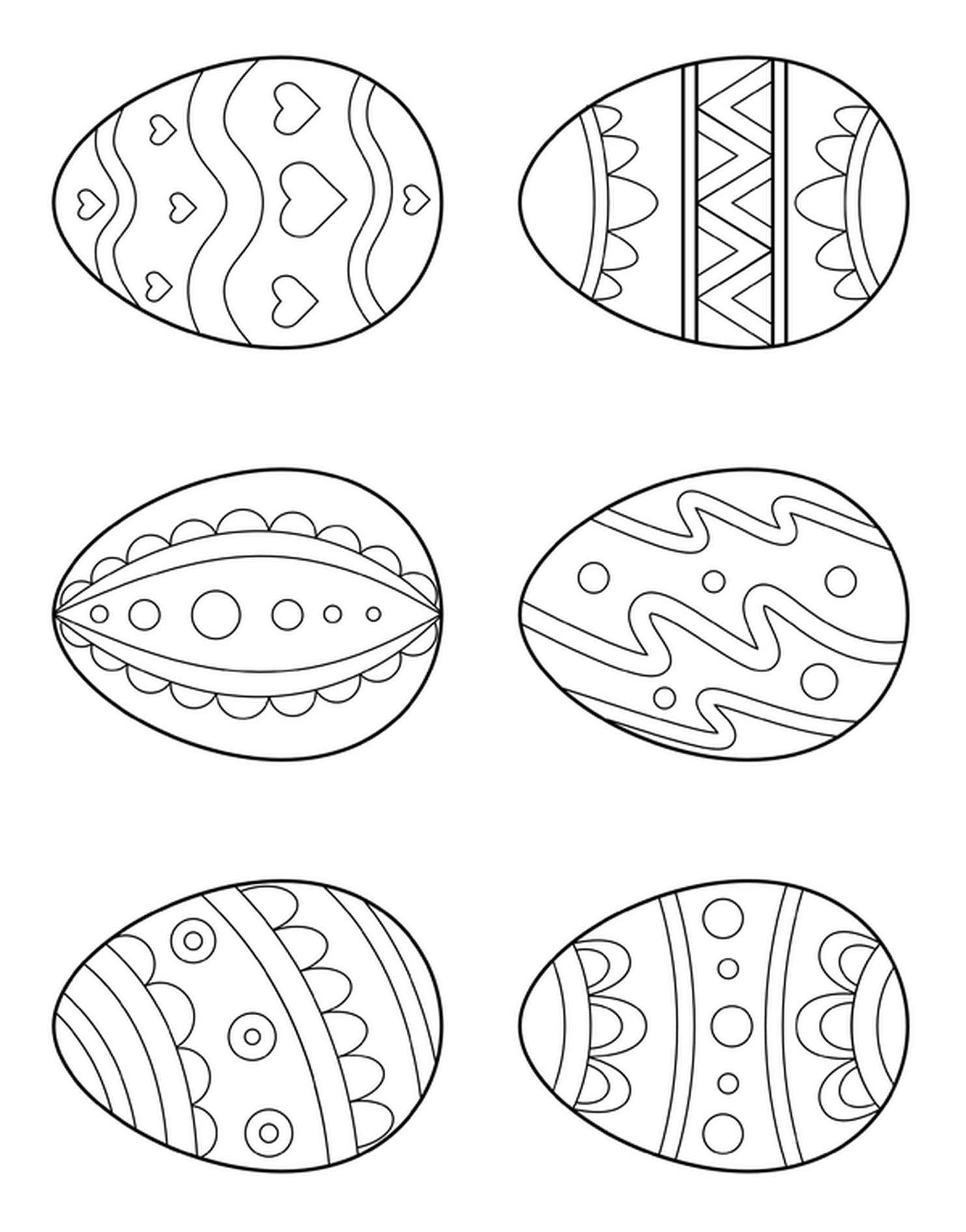 Best Easter Eggs Coloring Page