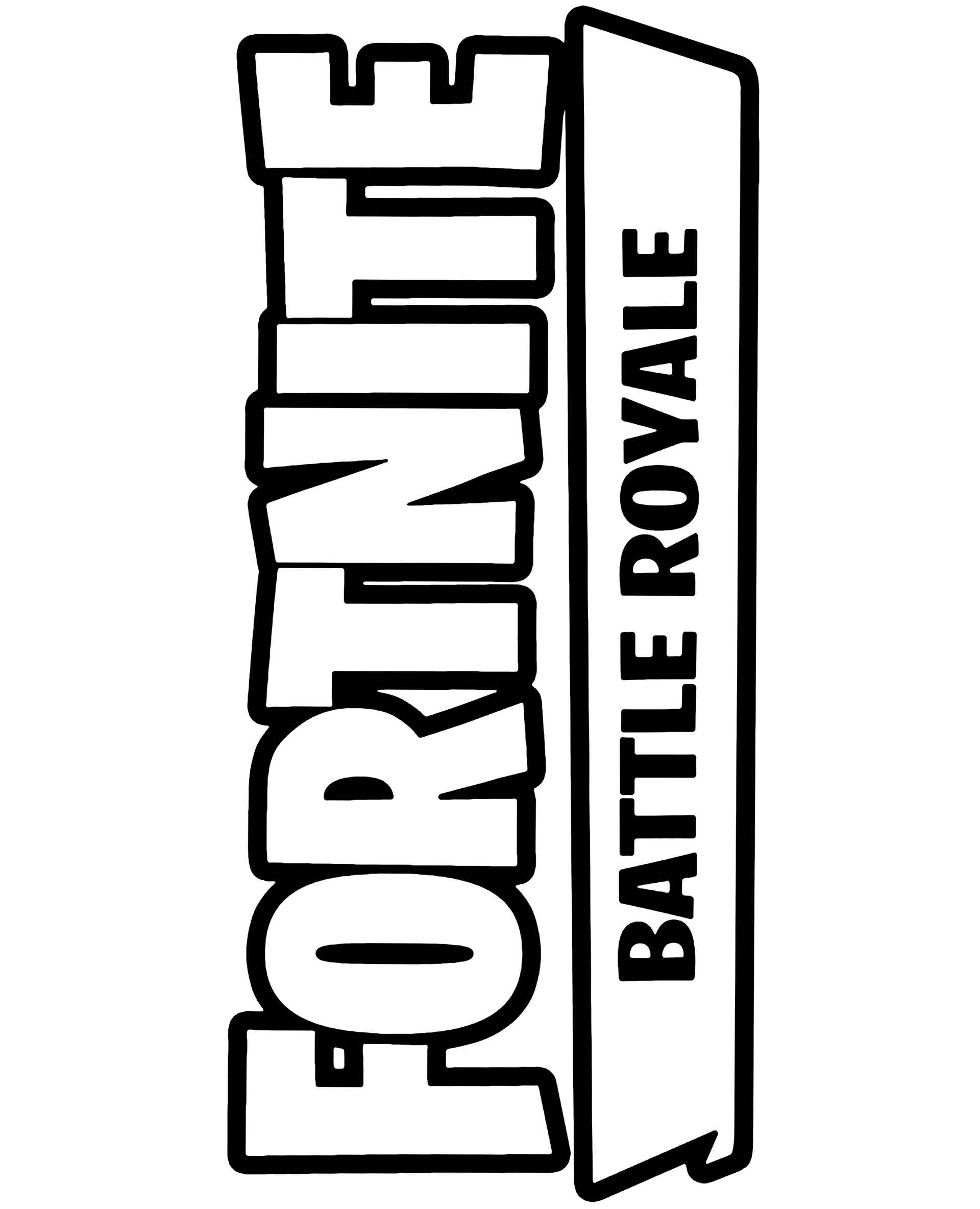 Big Logo Fortnite Coloring Sheet