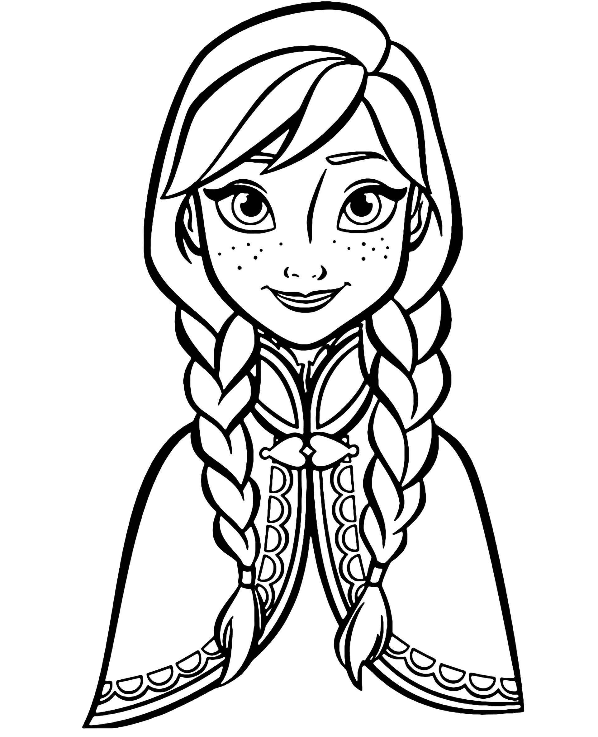 Big Picture Of Anna Coloring Page