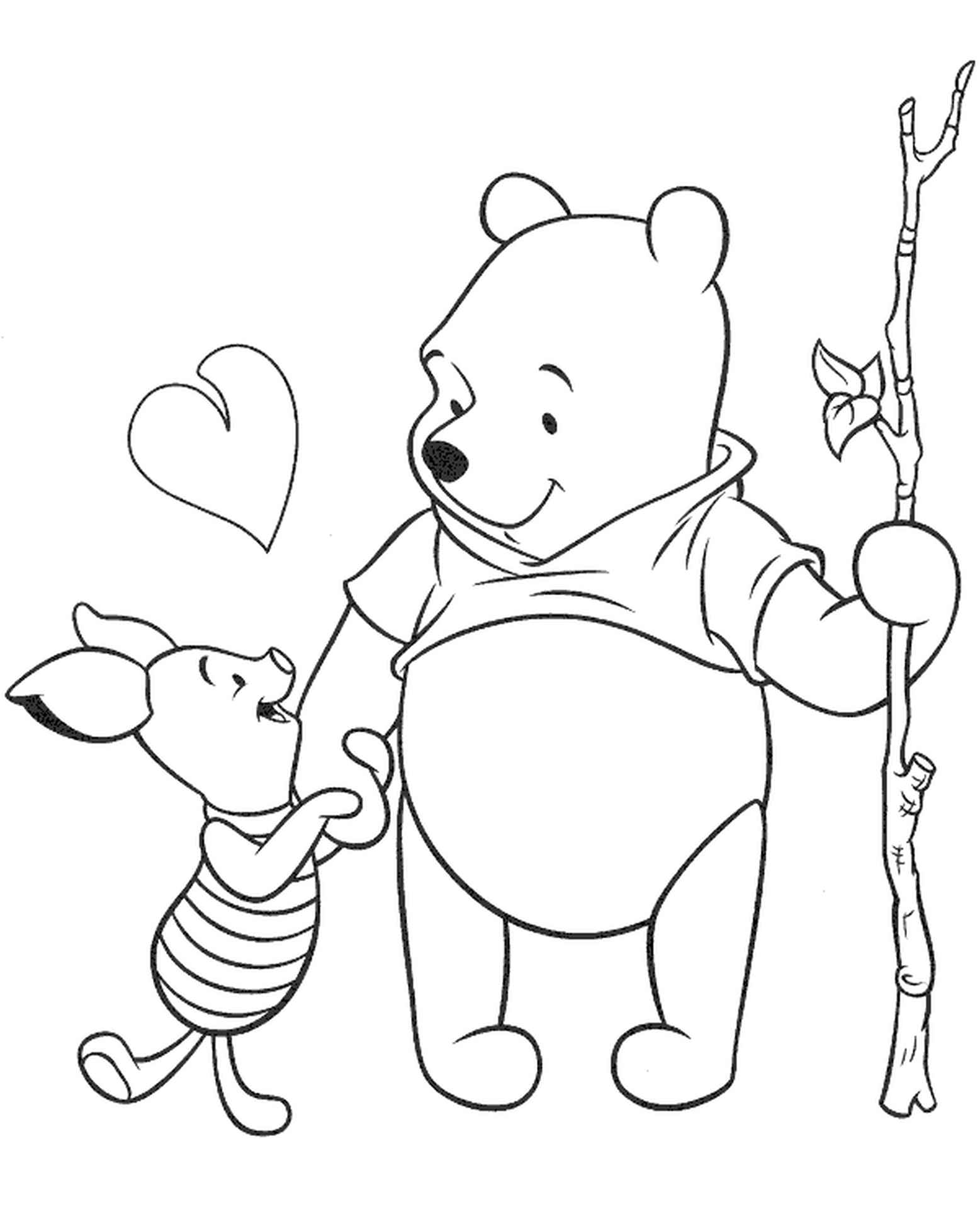 Big Pooh And Piglet Coloring Page