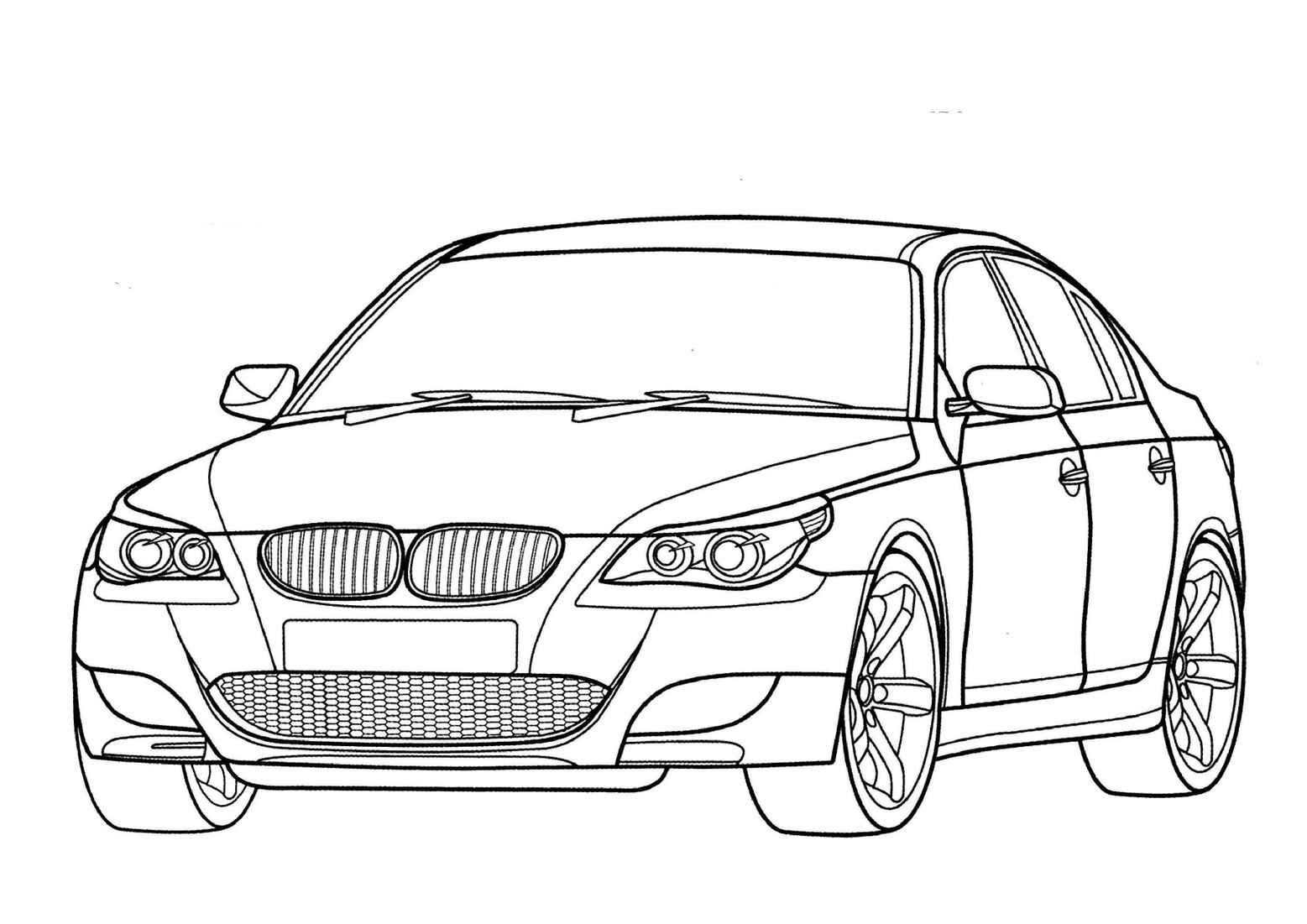 Bmw M5 Coloring Pages