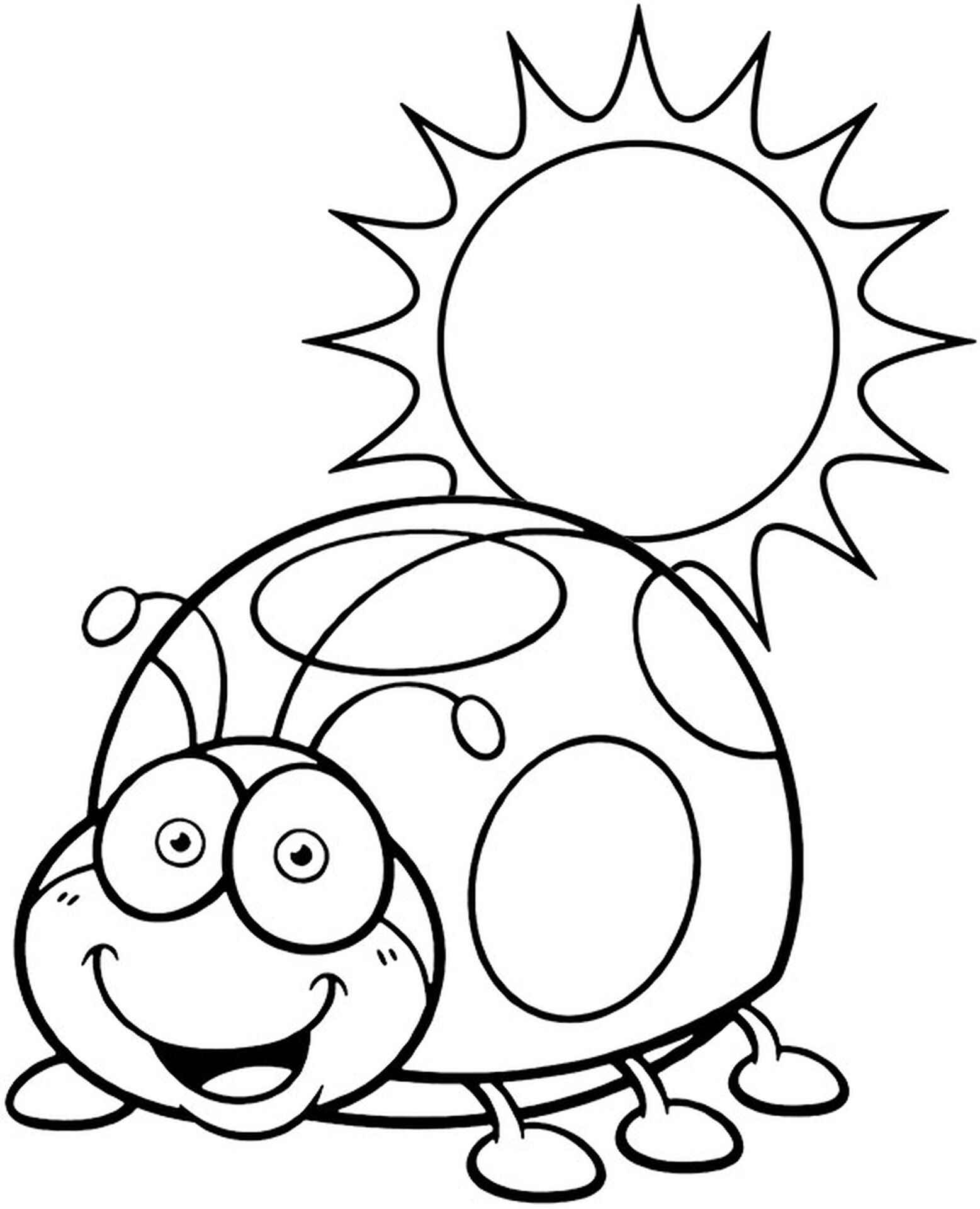 Bug And Sun Coloring Page