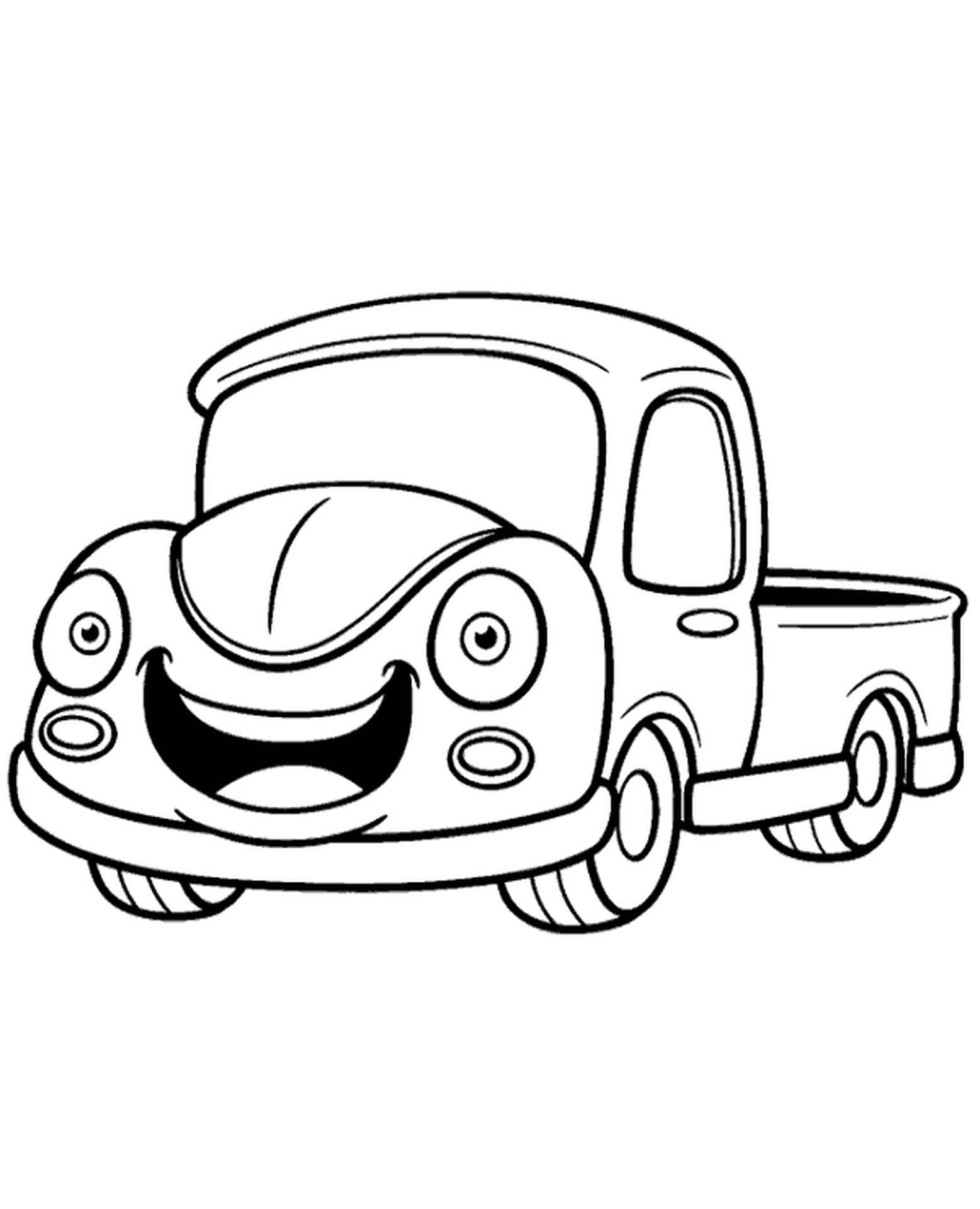 Car Coloring Page For Beginners