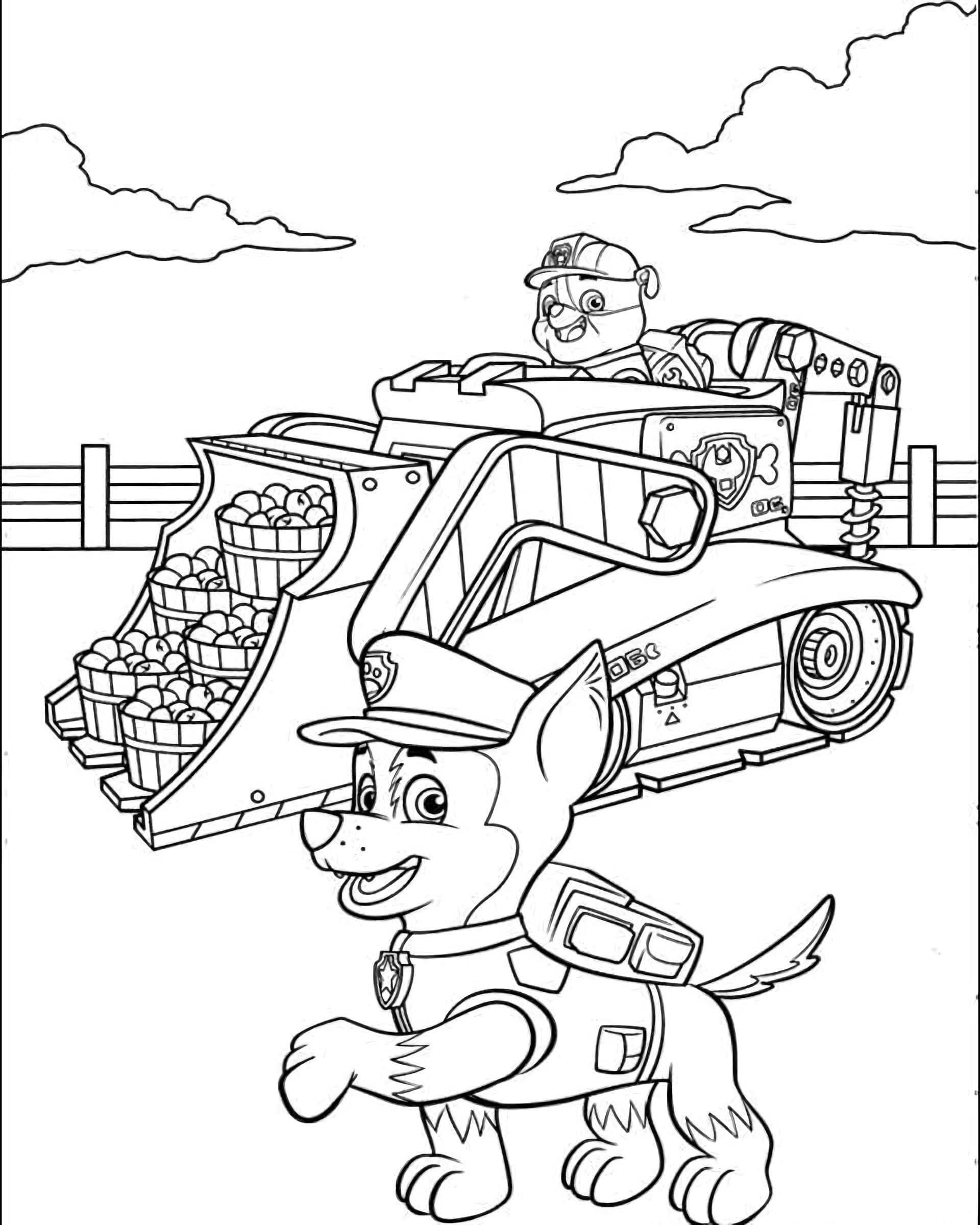 Chase And Paw Patrol Rubber Picking Apples