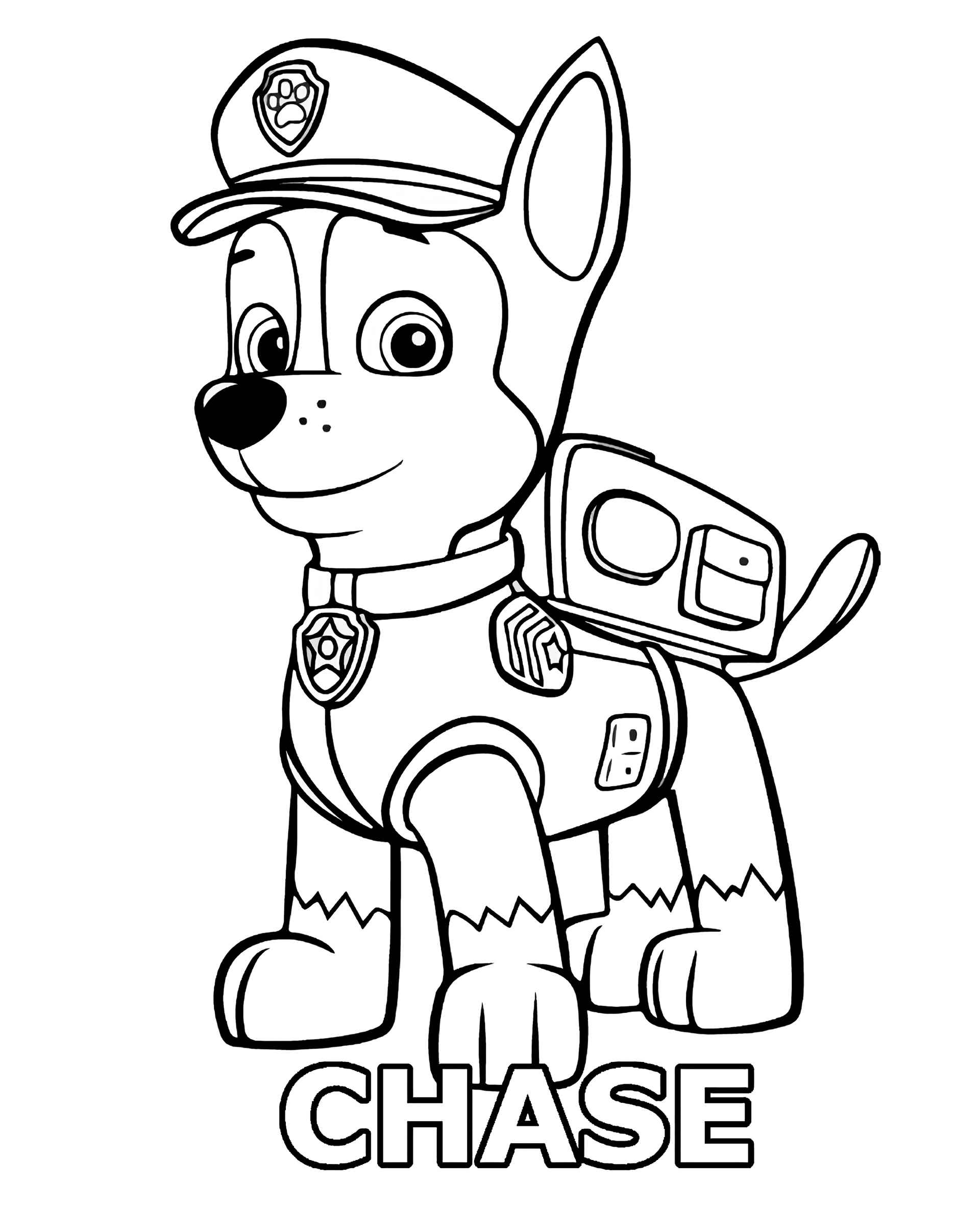 Chase From Paw Patrol Coloring Pages