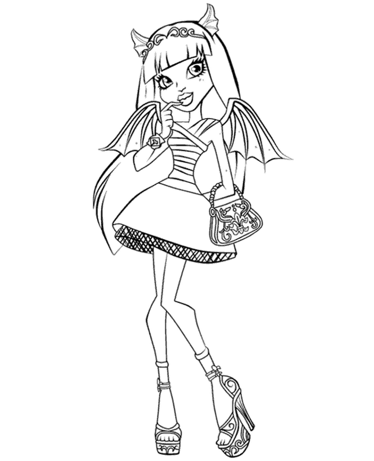 Coloring Image Rochelle Goyle From Monster High