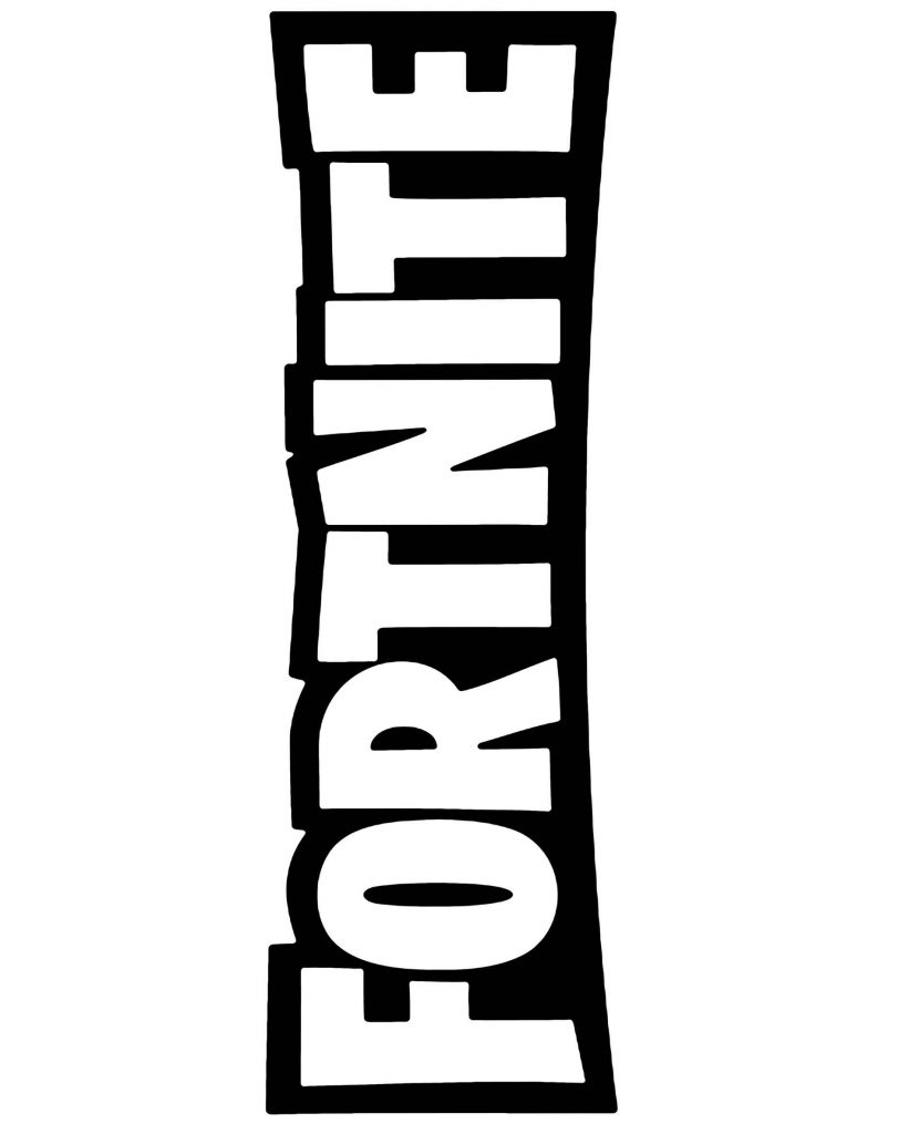 Coloring Page Big Logo Of Game Fortnite
