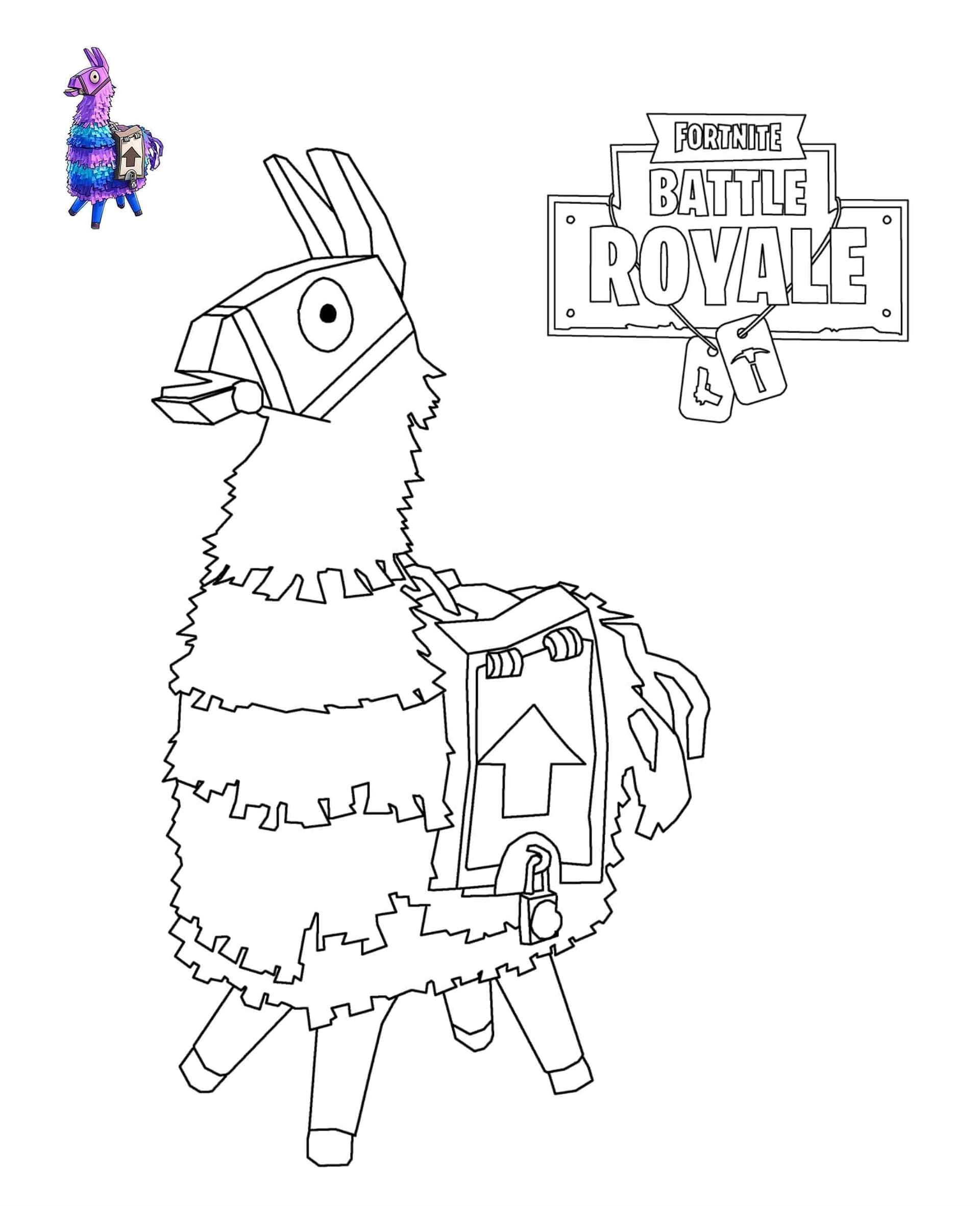 Coloring Page Of A Pinata From The Game Fortnite