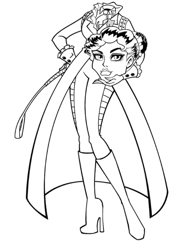 Coloring Page Of Headless Headmistress Bloodgood From Monster High