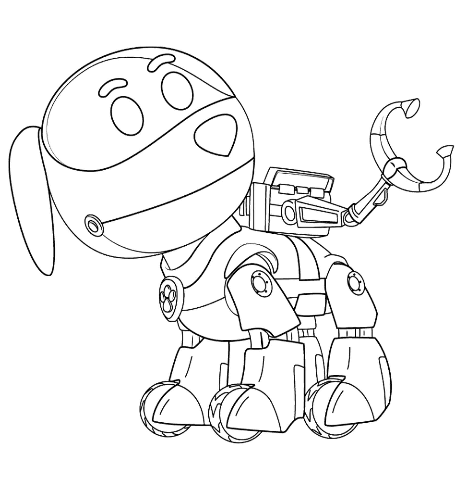 Coloring Page Of Paw Patrol Robot Dog