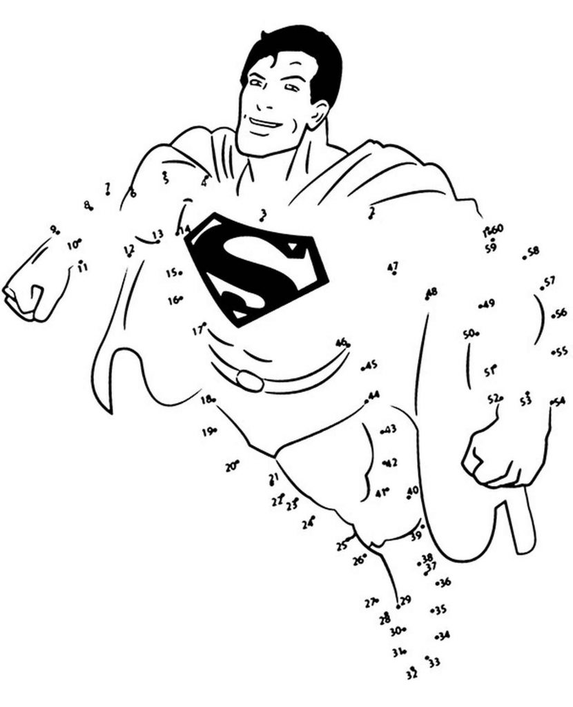 Coloring Page Of Superman Takes Off