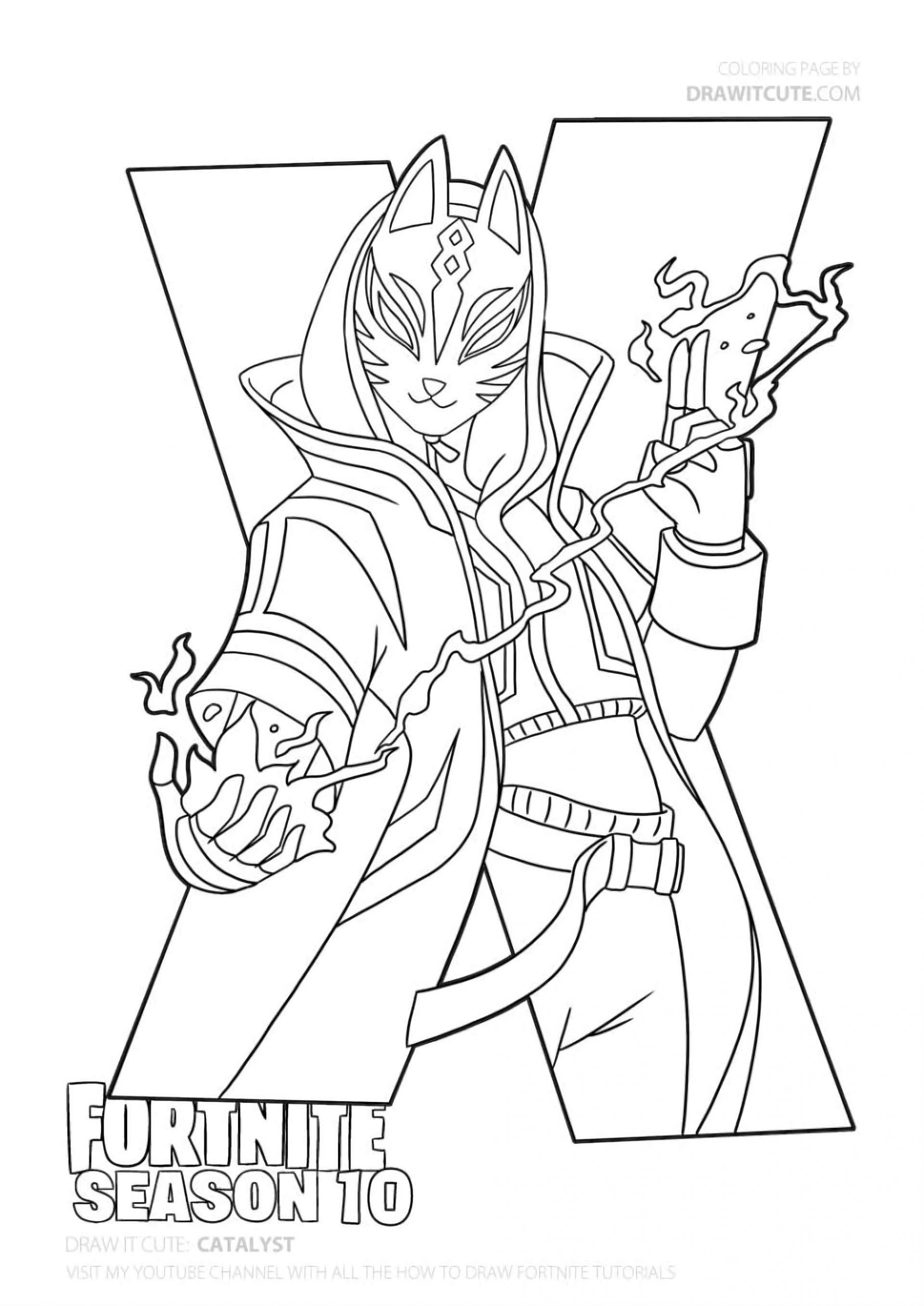 Coloring Page Of The Catalyst From The Game Fortnite