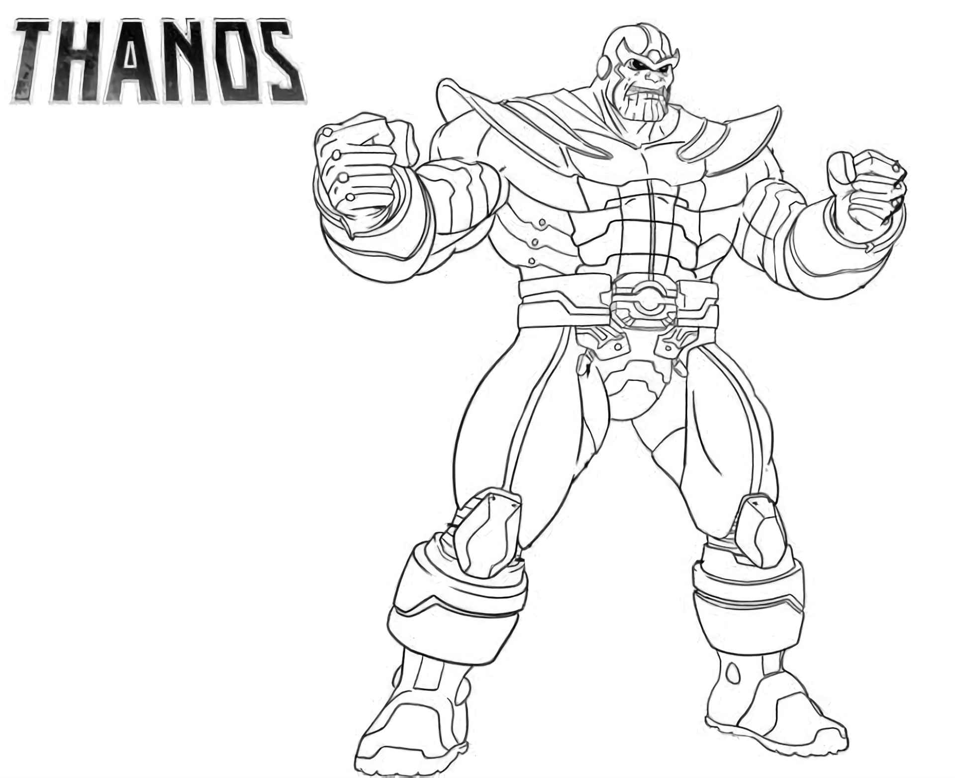 Coloring Page Of The Thanos Skin From The Game Fortnite