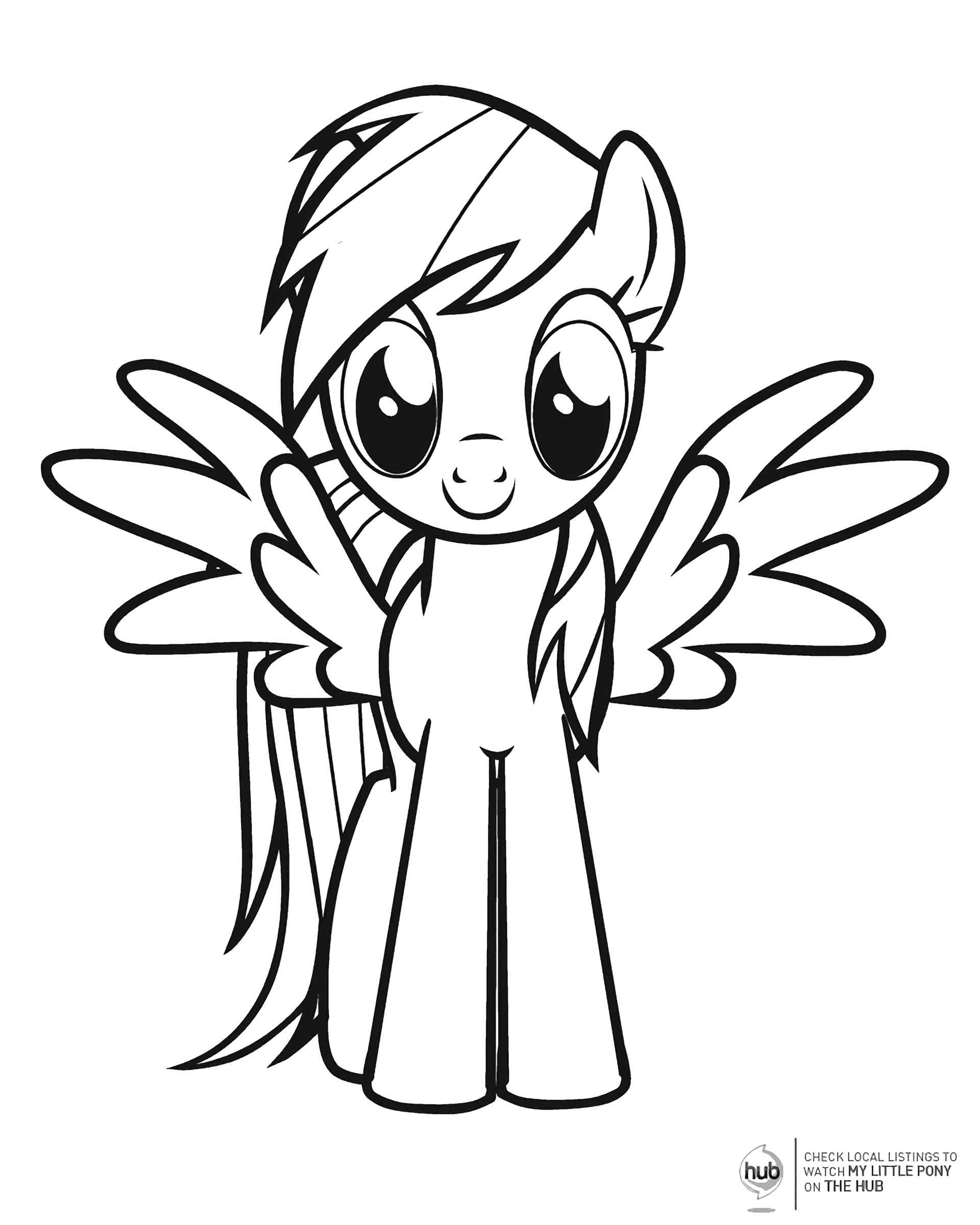 Coloring Page Rainbowdesh Spread Her Wings