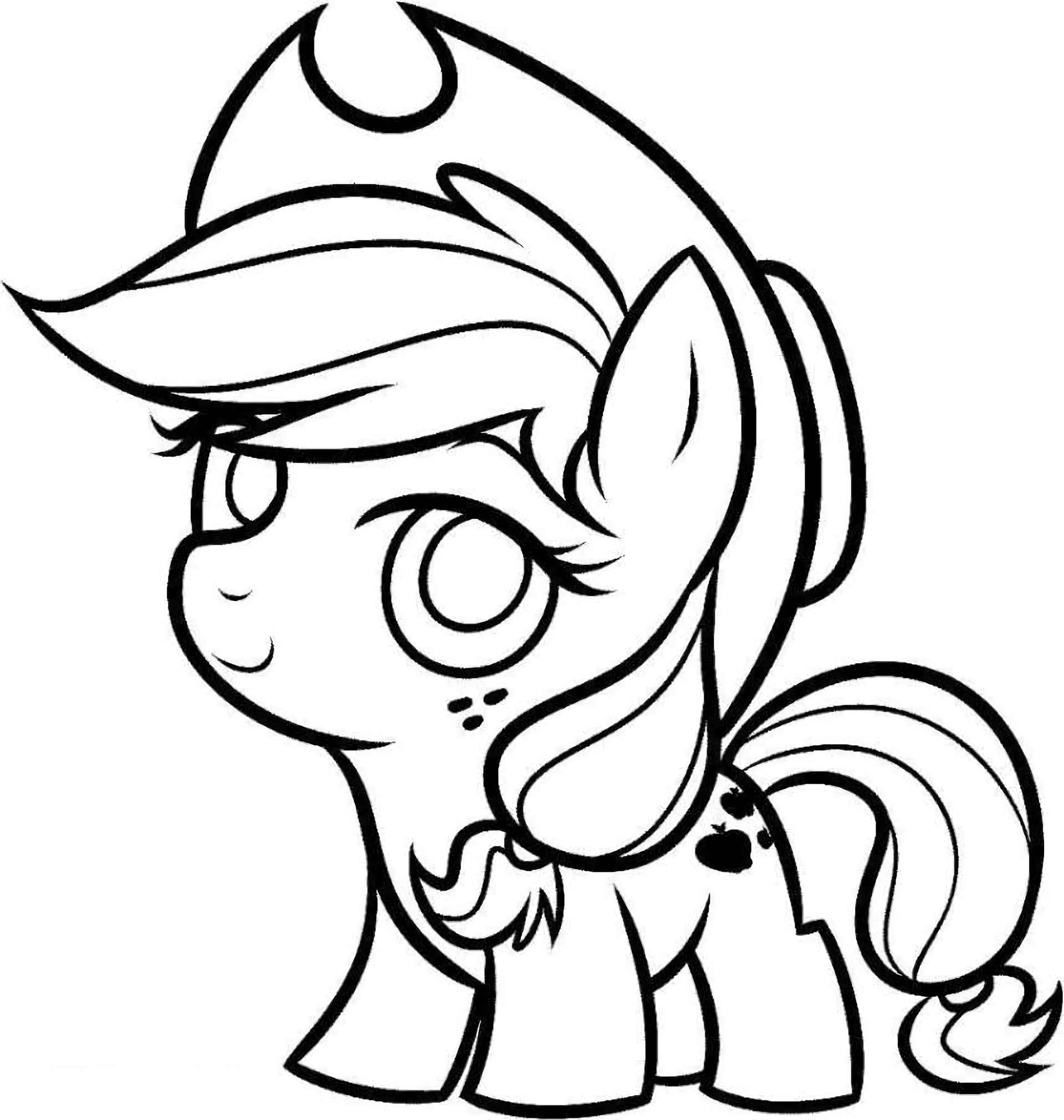 Coloring Page Small Copy Of Pony Applejack From My Little Pony