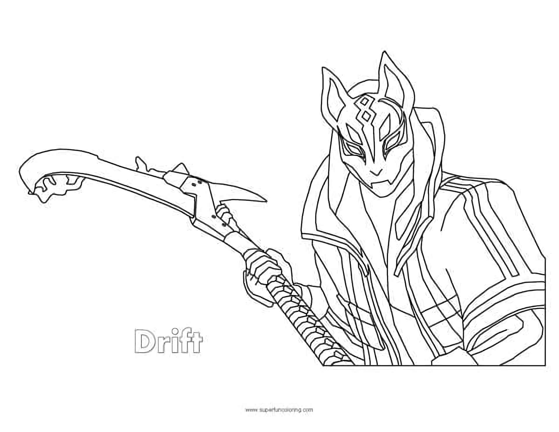 Coloring Page The Drift With Staff Skin From The Game Fortnite
