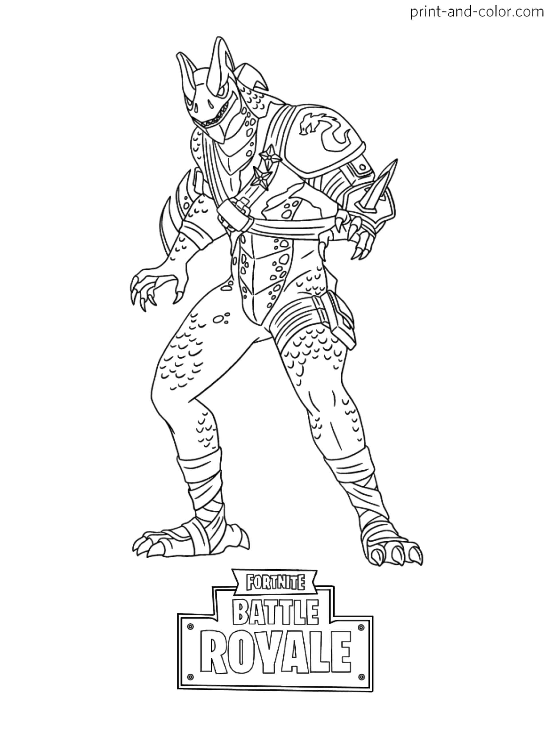 Coloring Page The Reptile Skin From The Game Fortnite