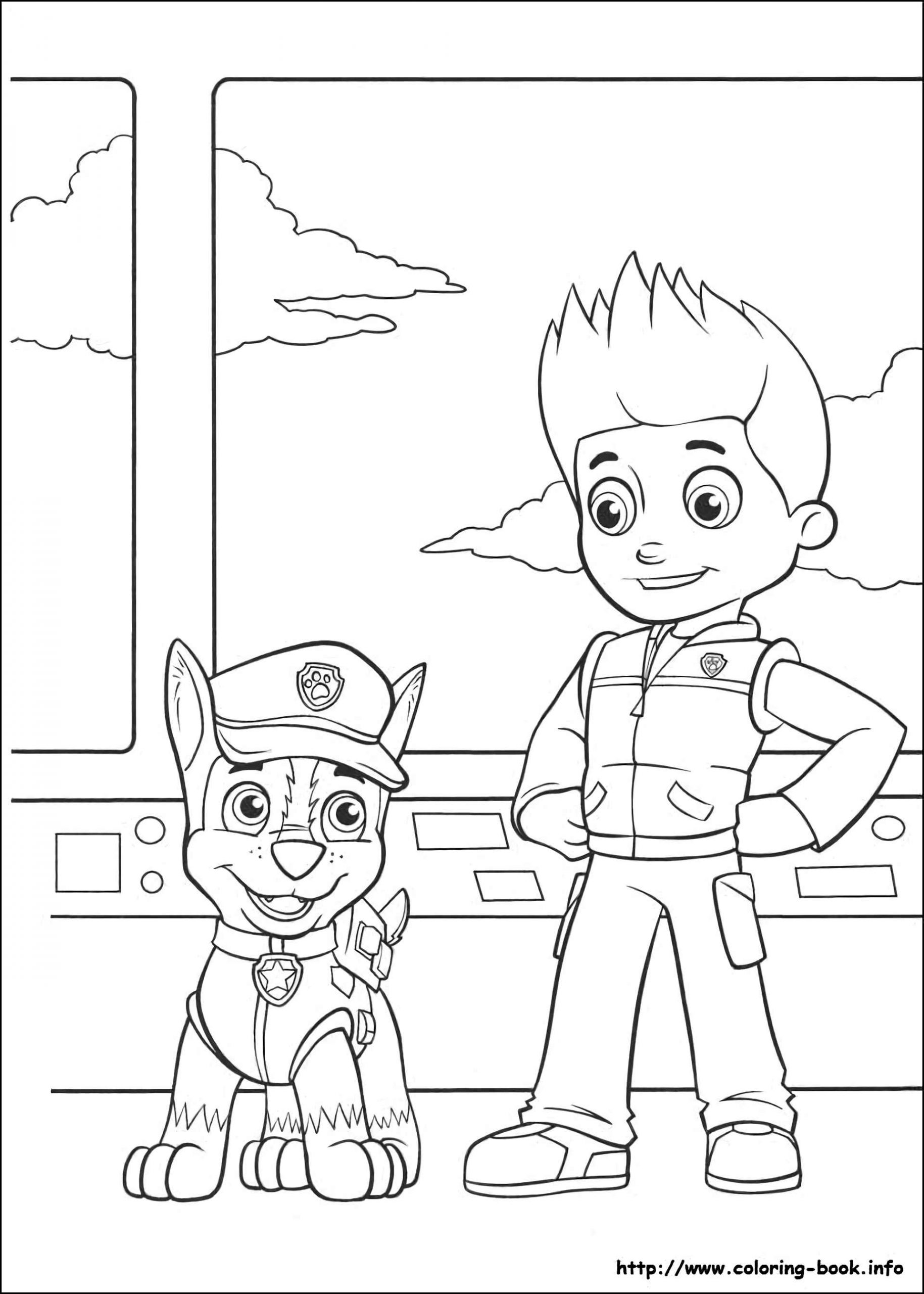Coloring Pages Of Chase And Ryder