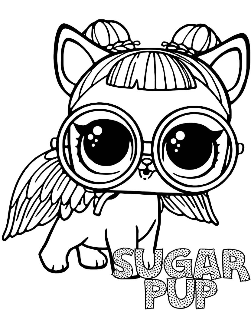 Coloring Pages Of Sugar Pup Doll From L.O.L. Suprise