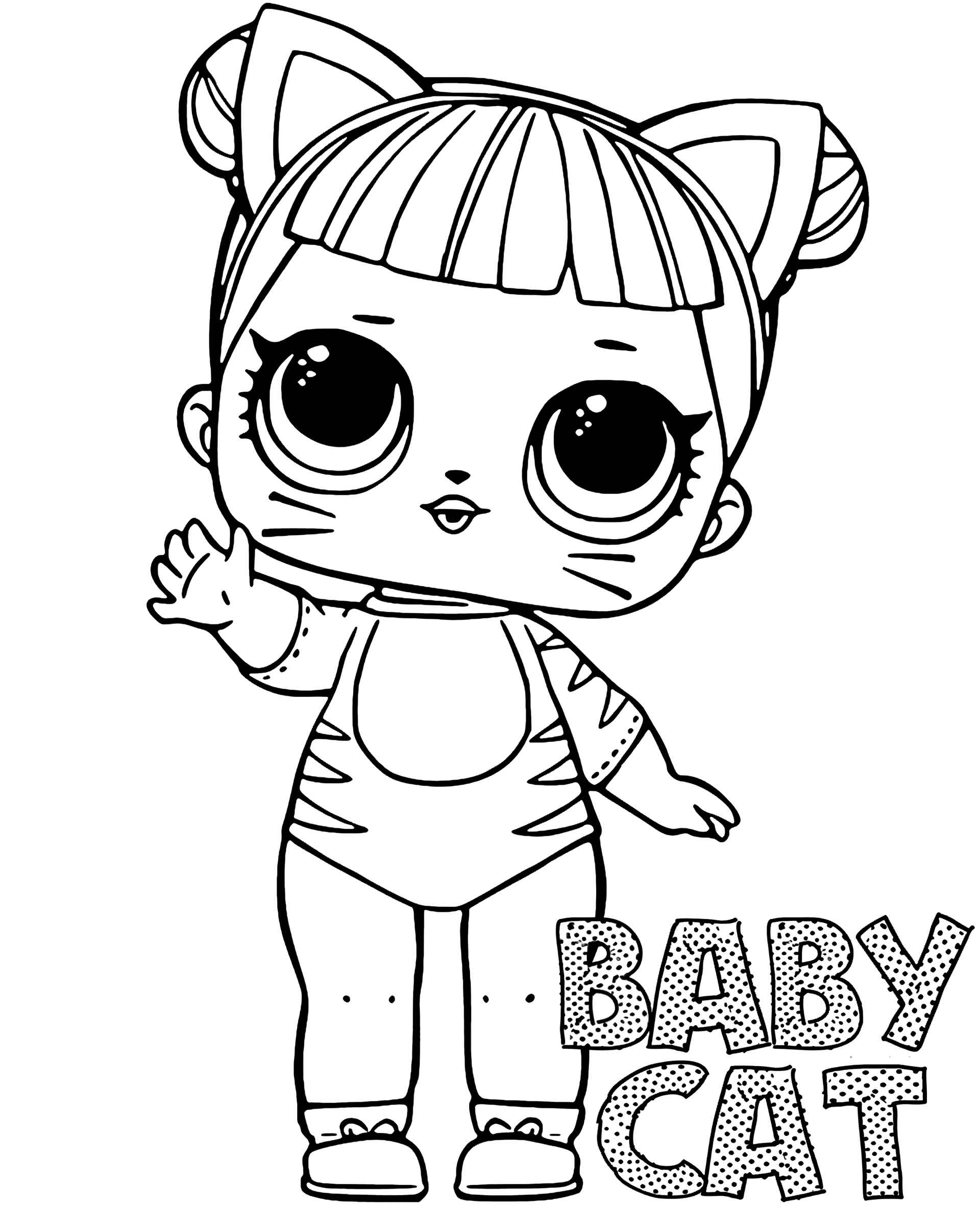 Coloring Sheet Baby Cat Doll From L.O.L. Suprise