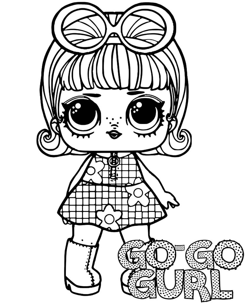 Coloring Sheet Go-Go Gurl Doll From L.O.L. Suprise