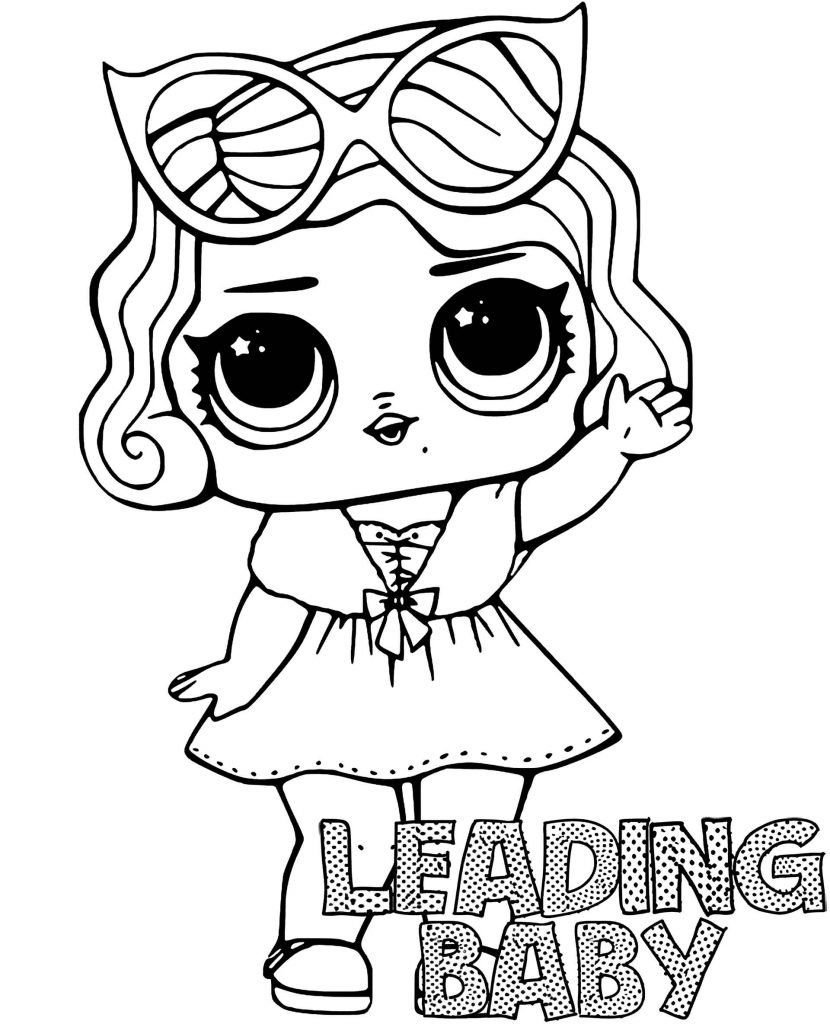 Coloring Sheet Leading Baby Doll From L.O.L. Suprise