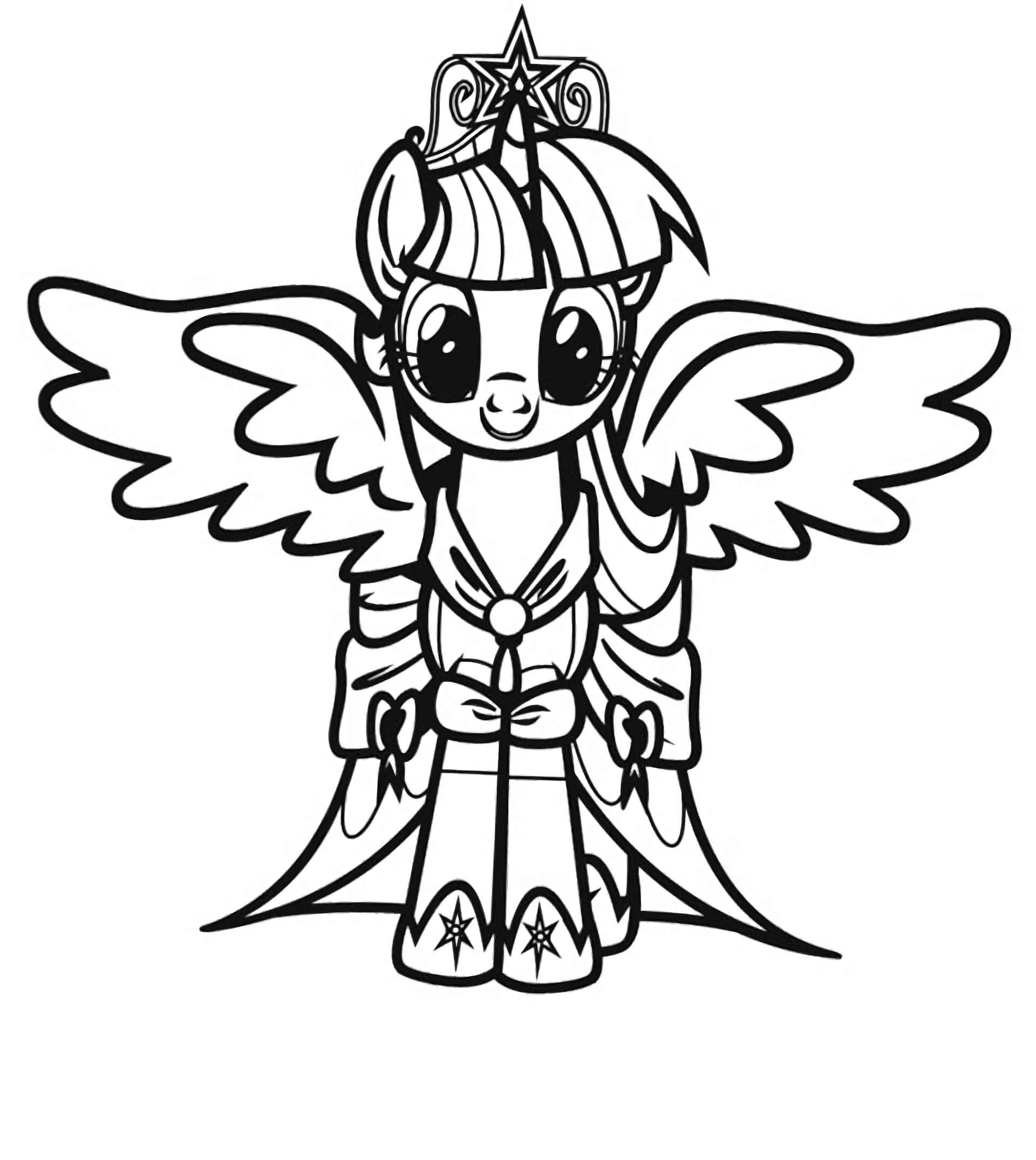 Coloring Sheet Princess Twilight With A Tiara At An Important Event