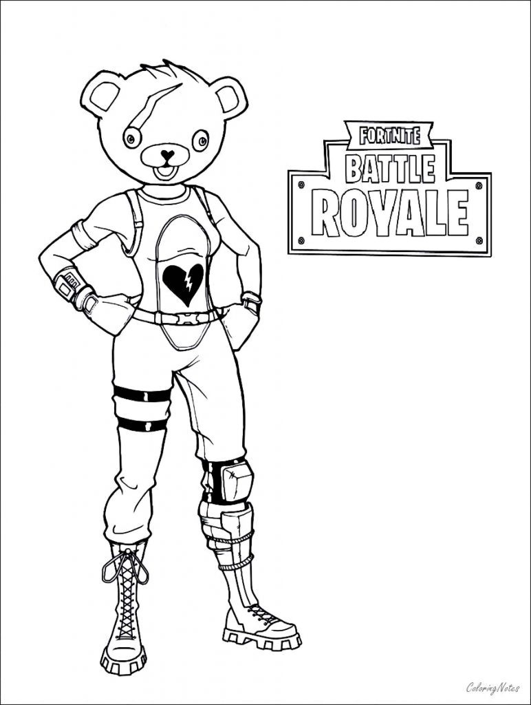 Coloring Sheet The Fabulous Skin From The Game Fortnite
