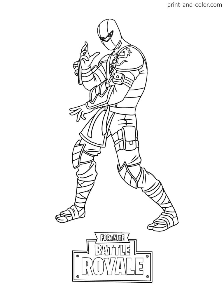 Coloring Sheet The Ninja Skin From The Game Fortnite