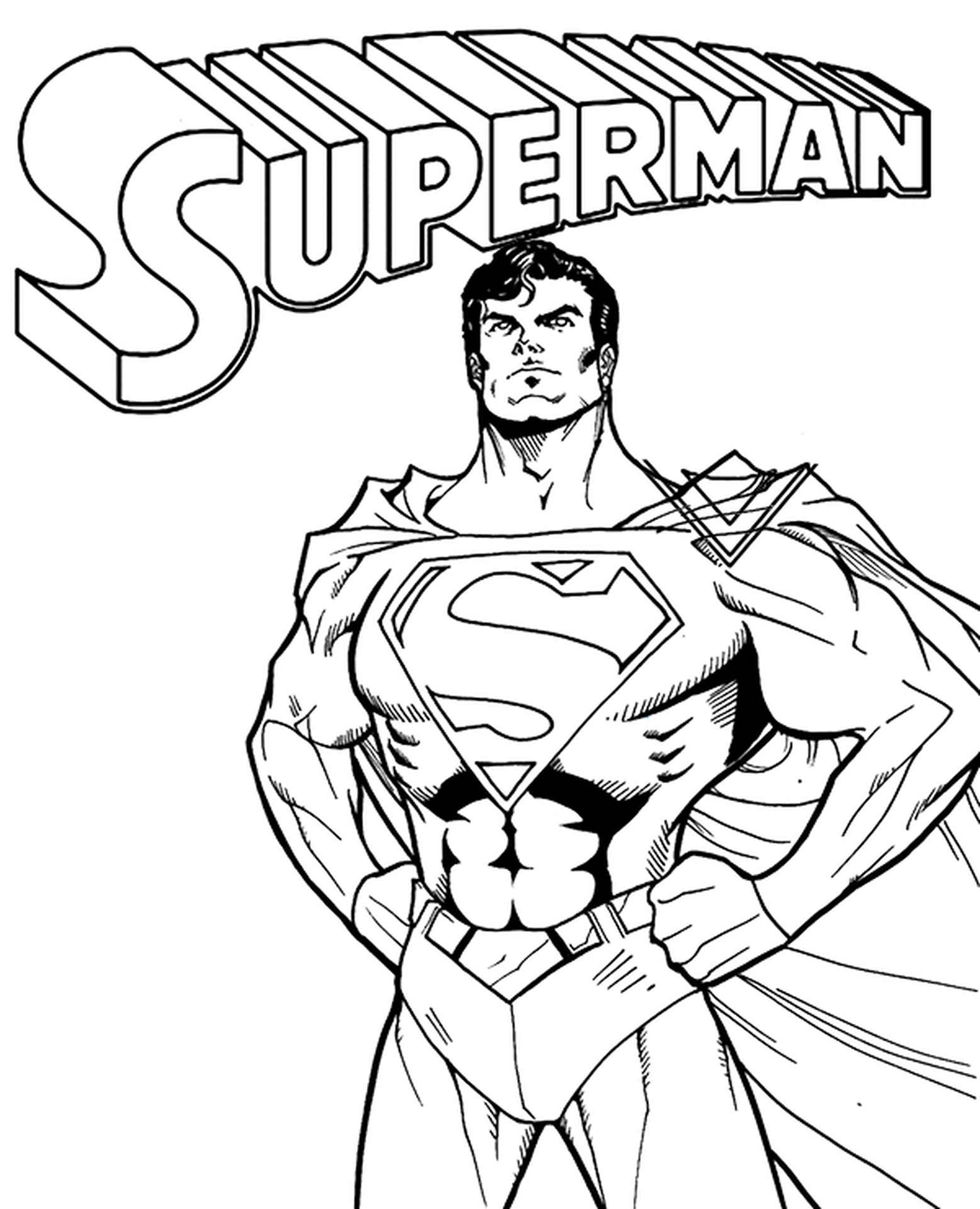 Comic Book Coloring Page