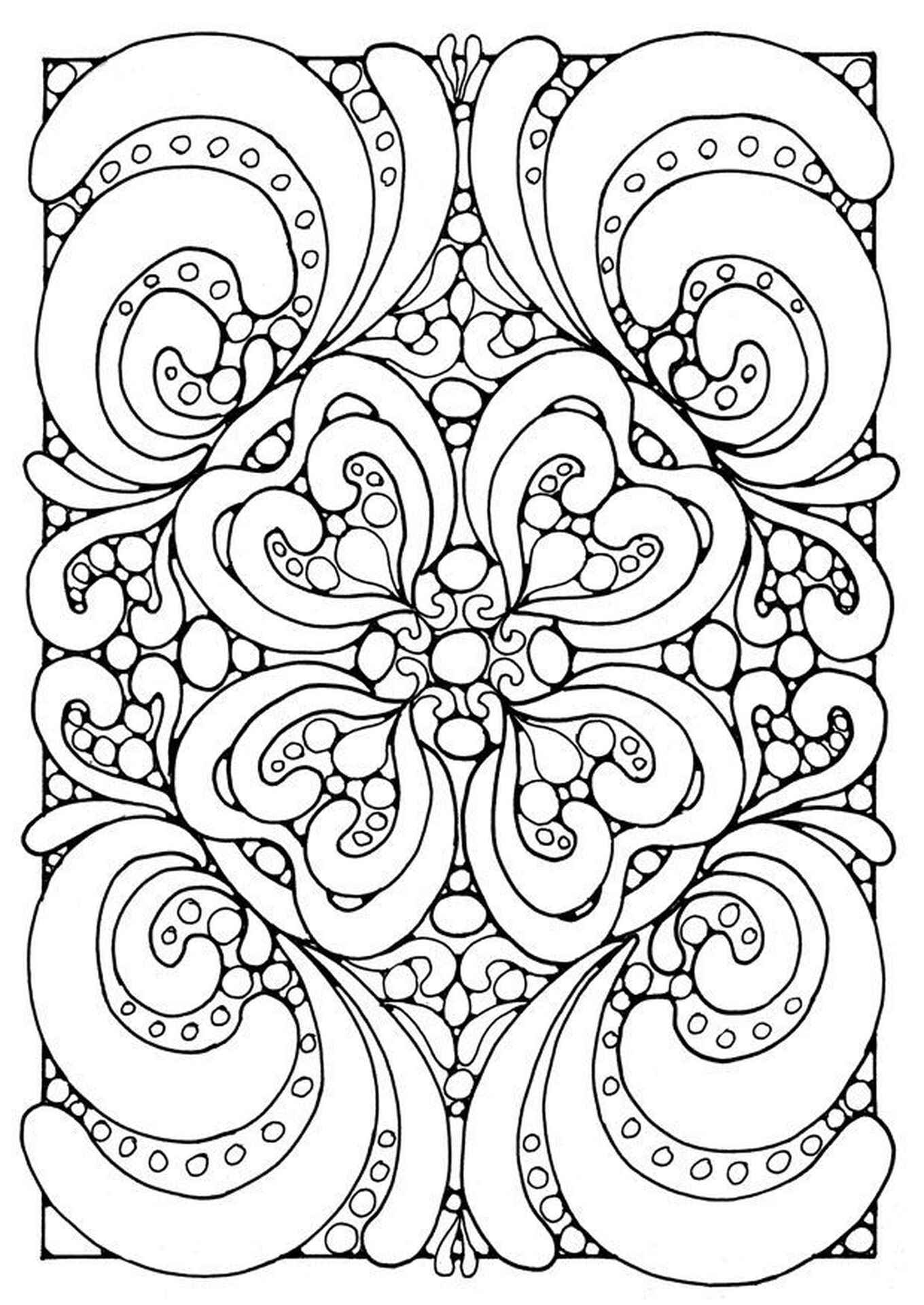 Complex Geometric Pattern Coloring Pages