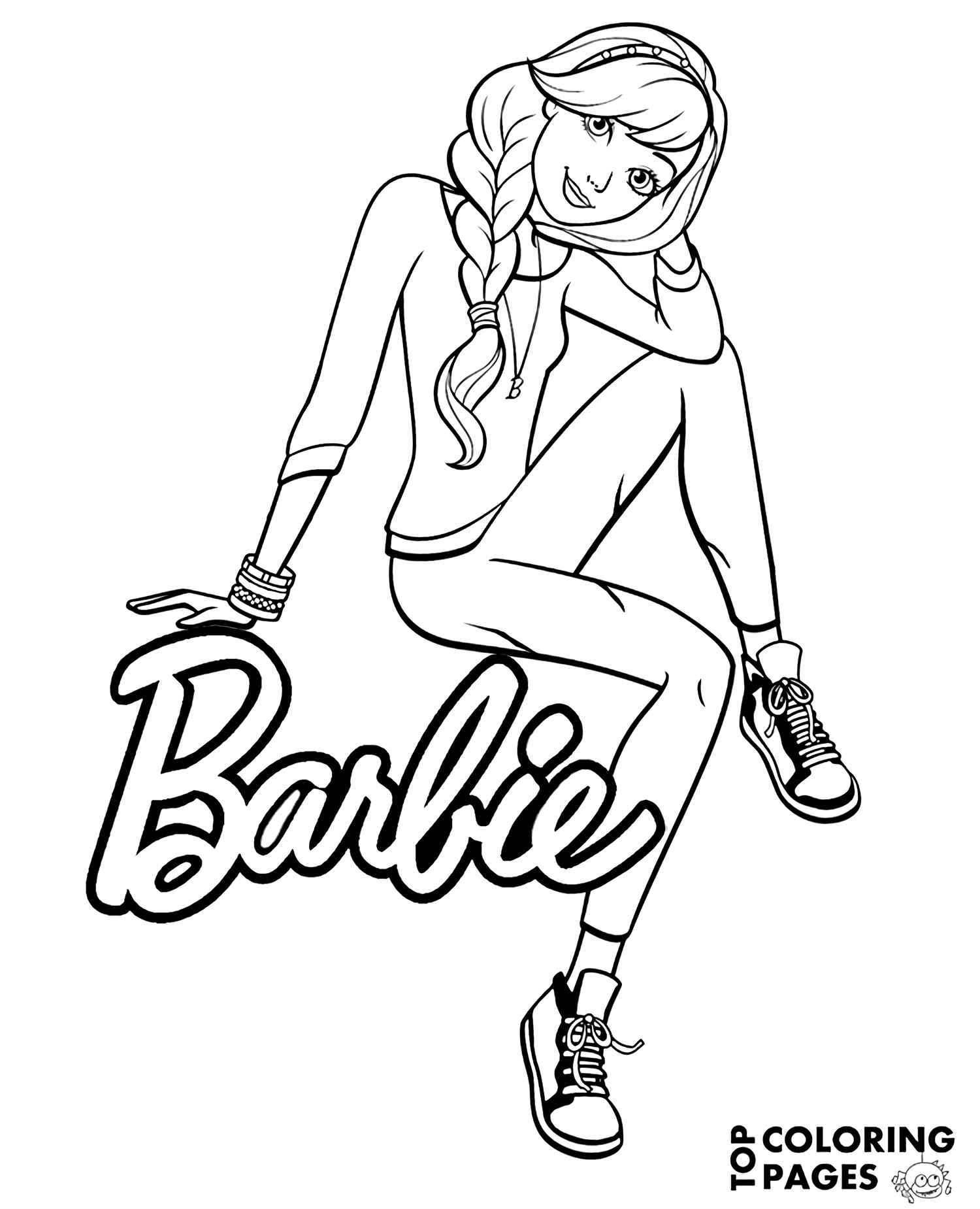 Cool Barbie Next To The Logo