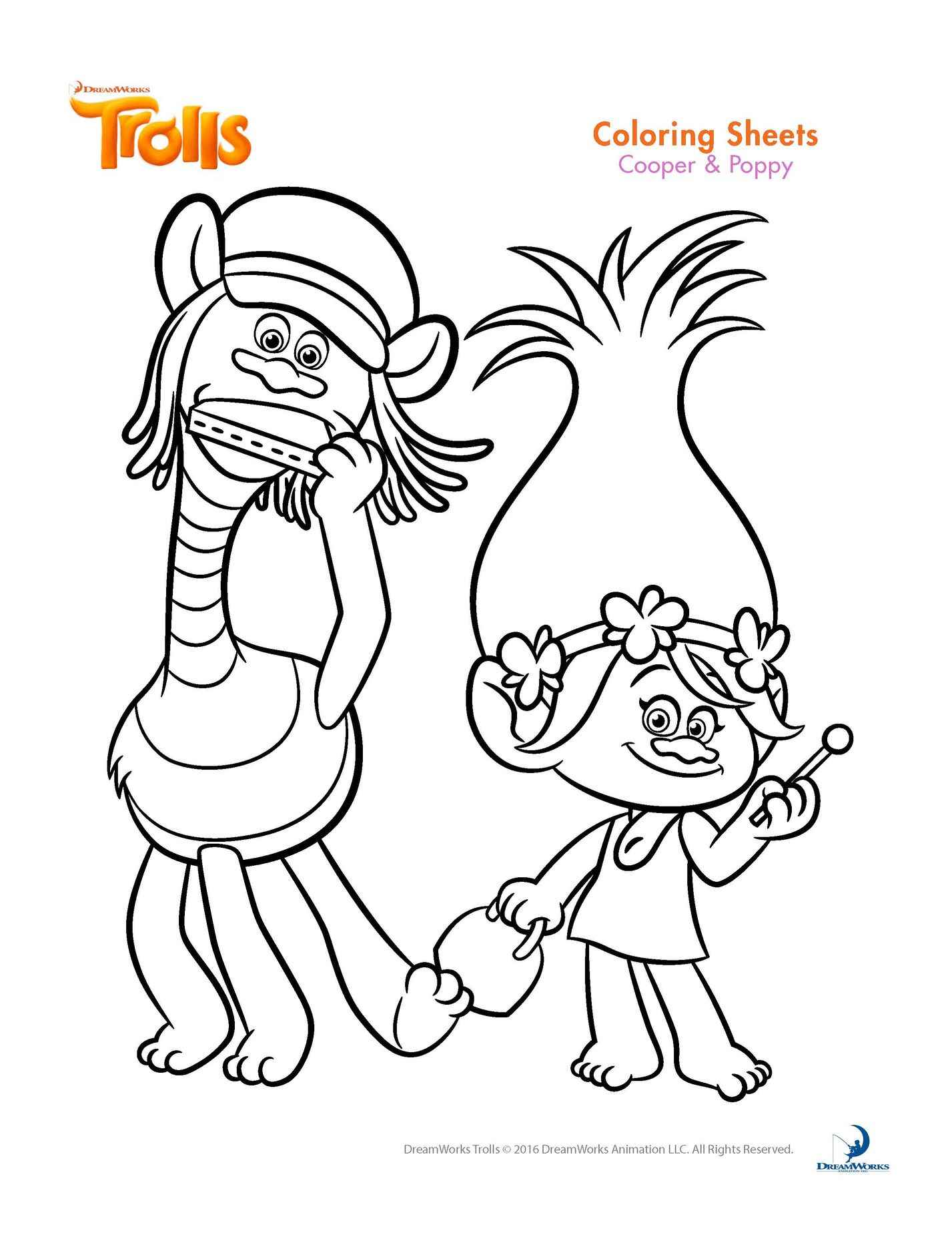 Cooper And Poppy Coloring Page