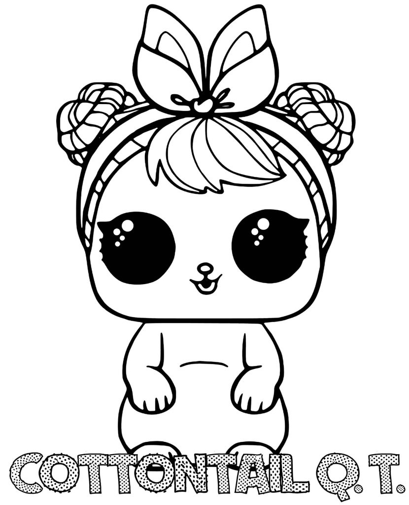 Cottontail Qt Doll From L.O.L. Suprise Coloring Pages