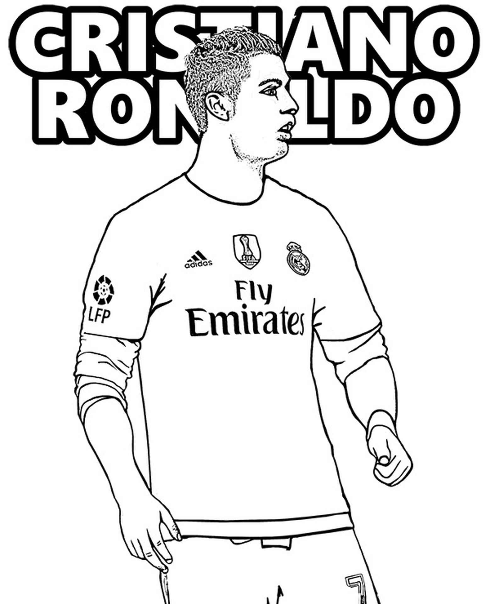 Cristiano Ronaldo Coloring Pages