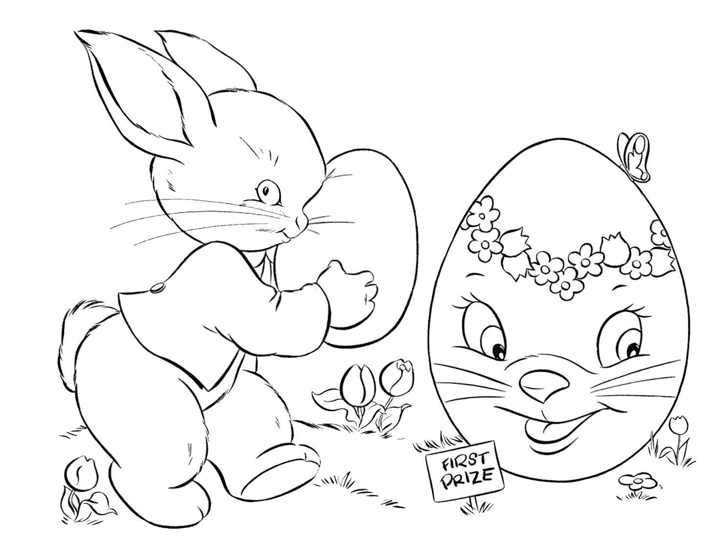 Cute Coloring Page For Easter