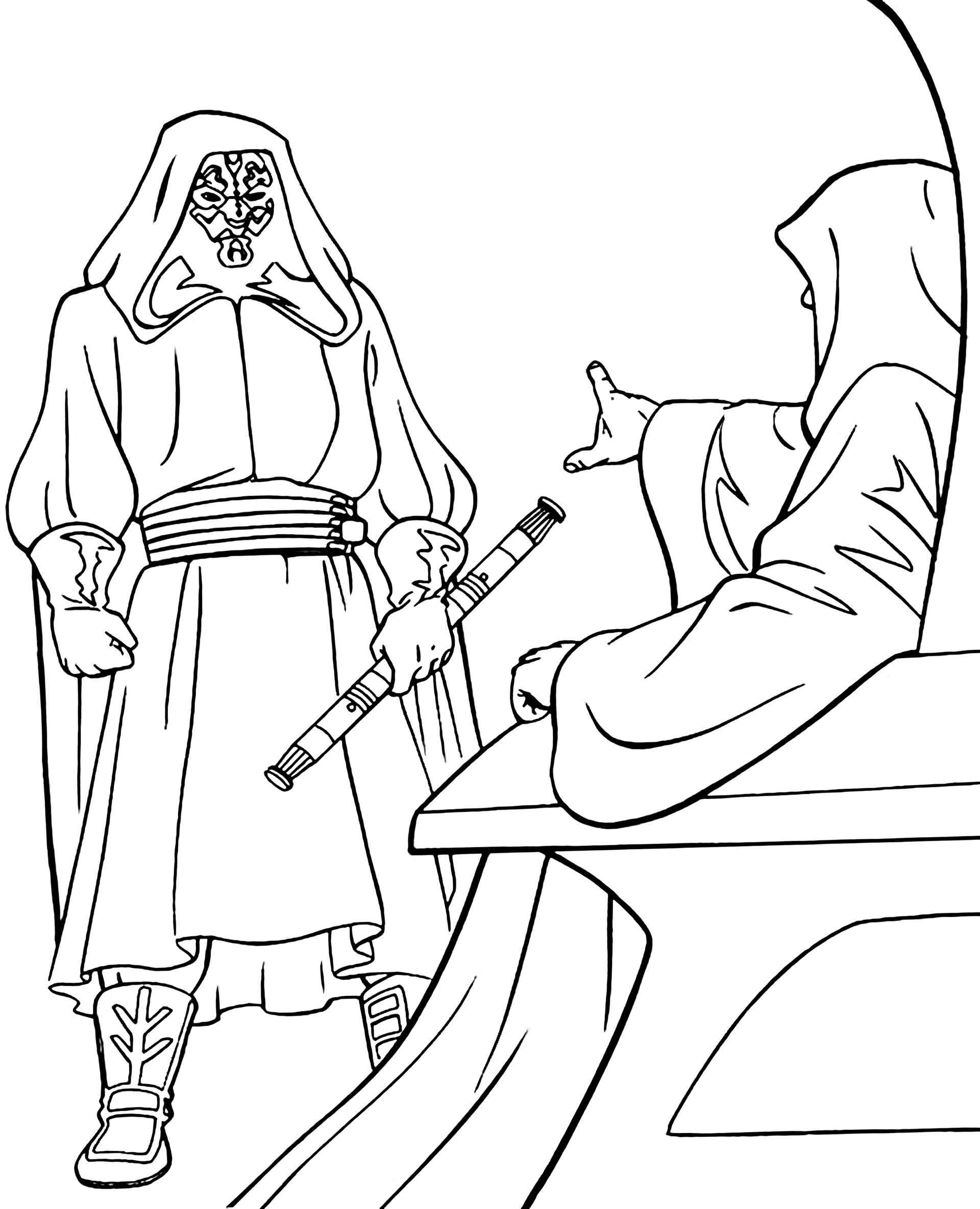 Darth Maul From Star Wars Receives A Decree Coloring Page