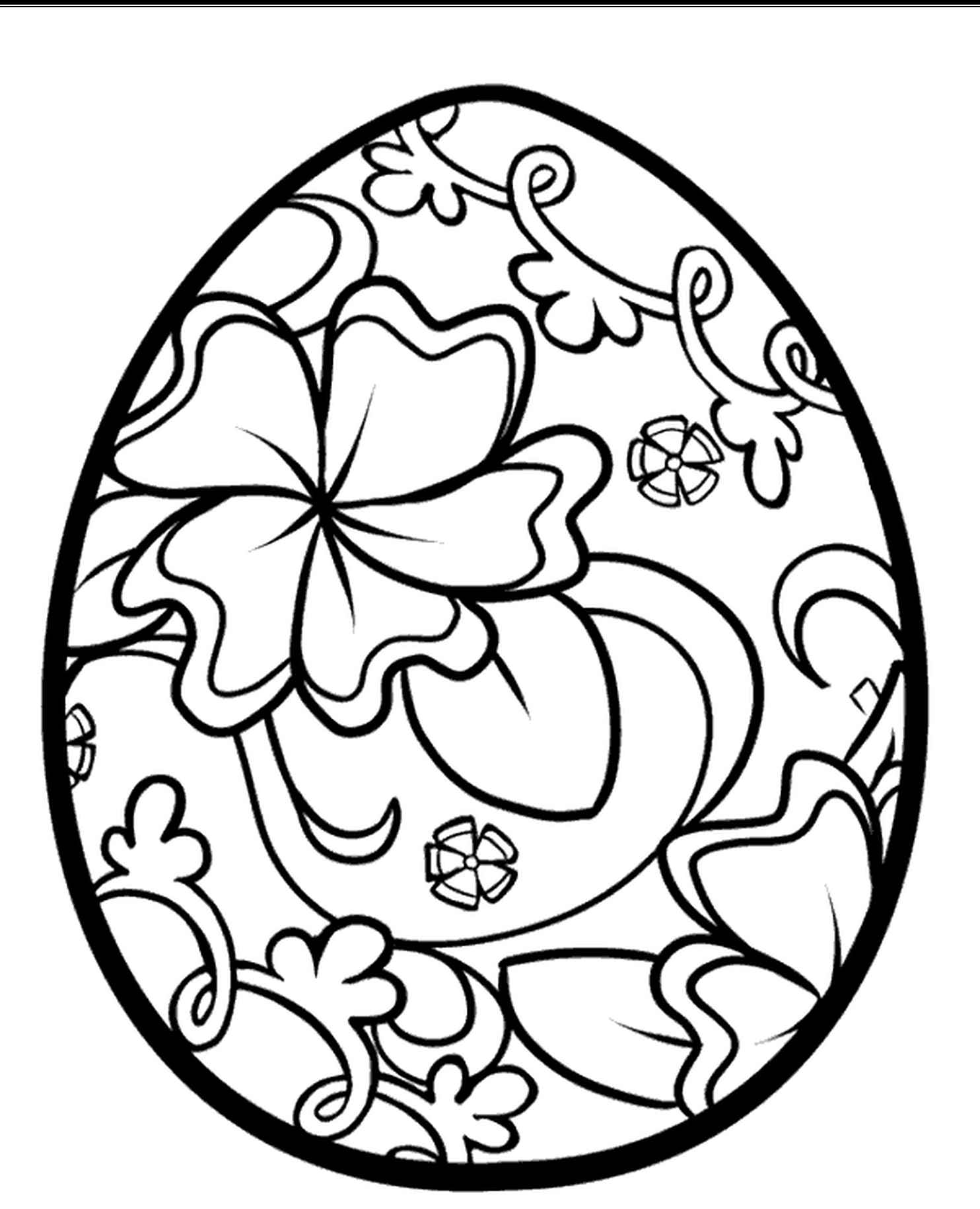 Decorated Easter Egg Coloring Page